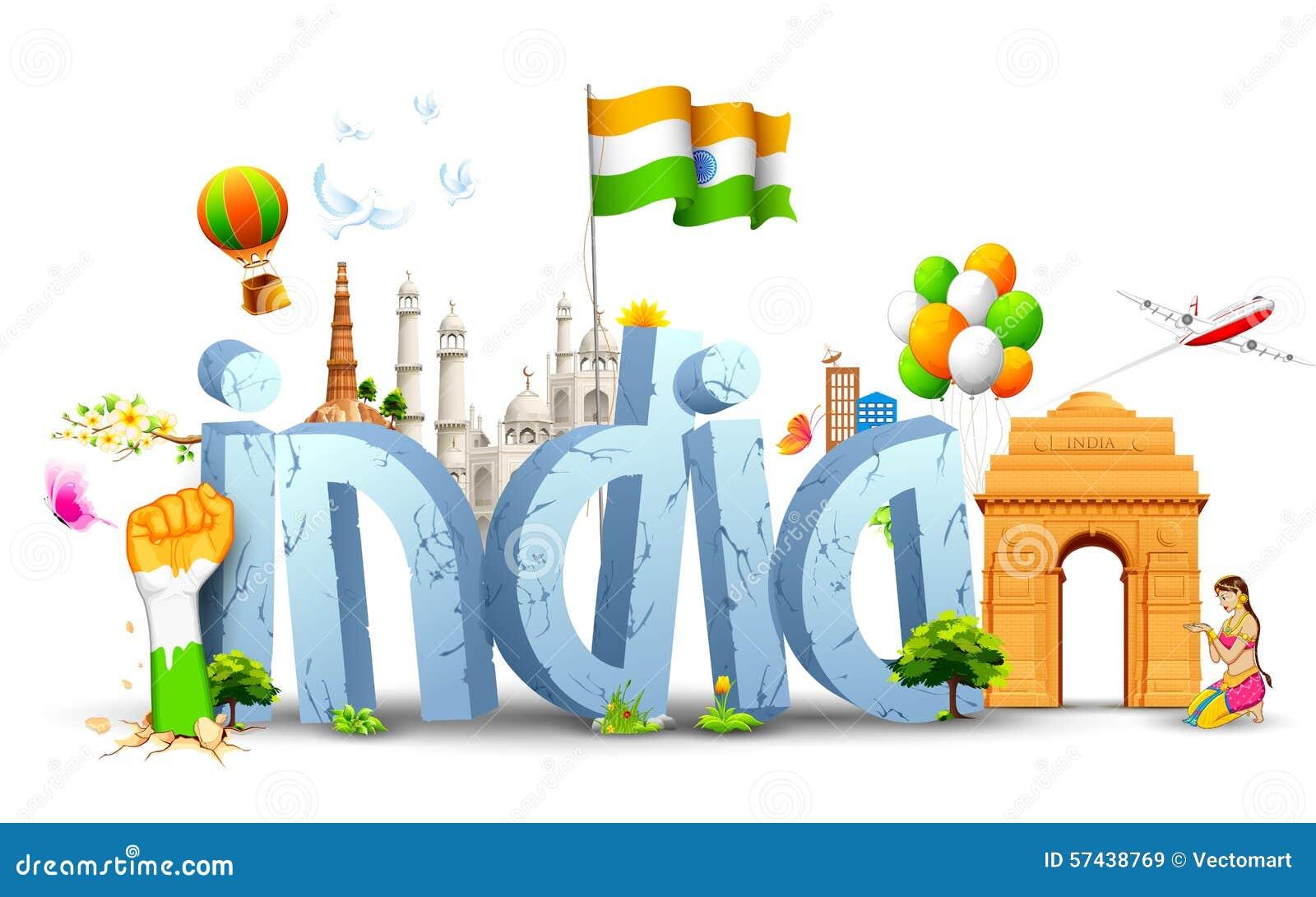 Indien bakgrund