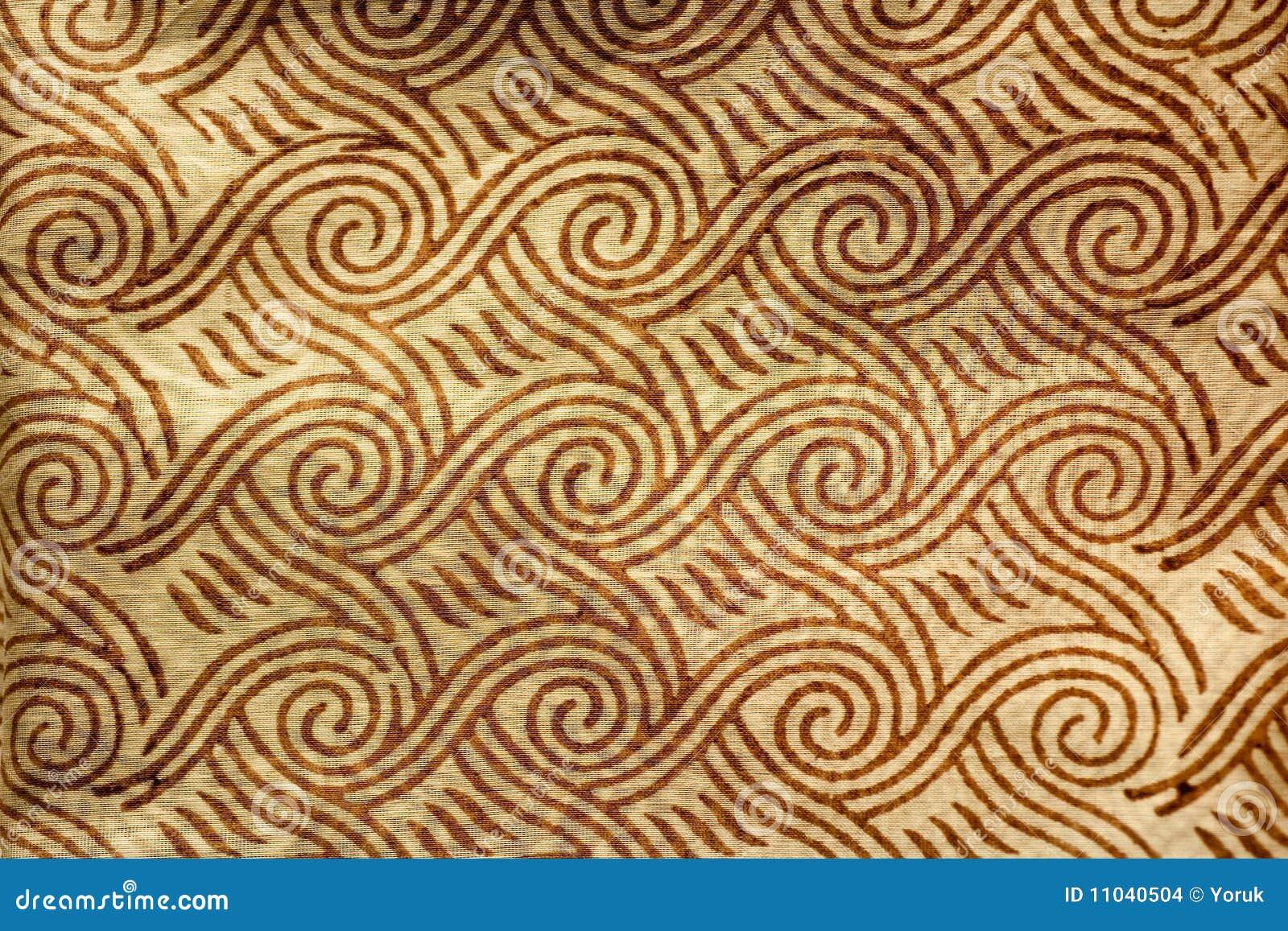 Indier utskrivaven silk