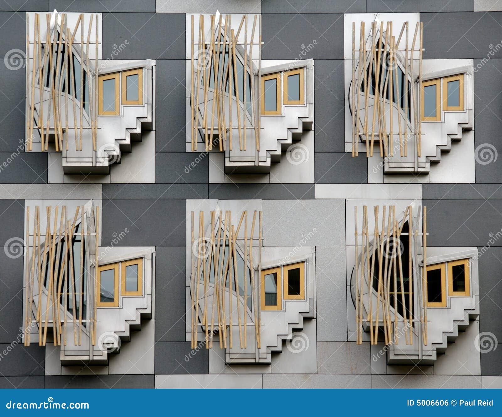 Indietro della costruzione scozzese del Parlamento