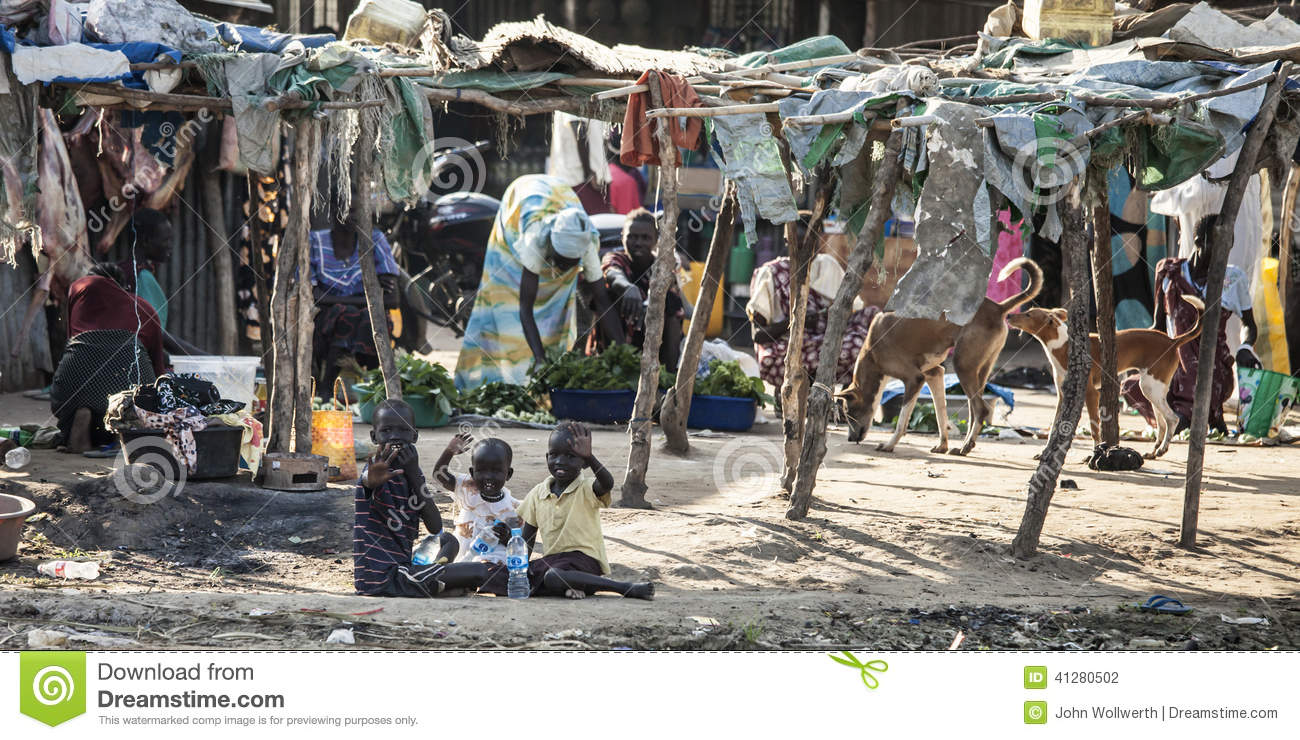 Indigenous displaced family, Bor South Sudan