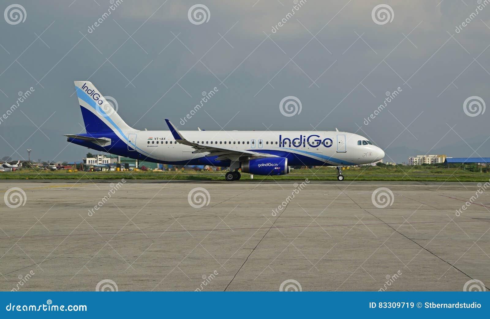 IndiGo Airline at Nepal Tribhuvan International Airport