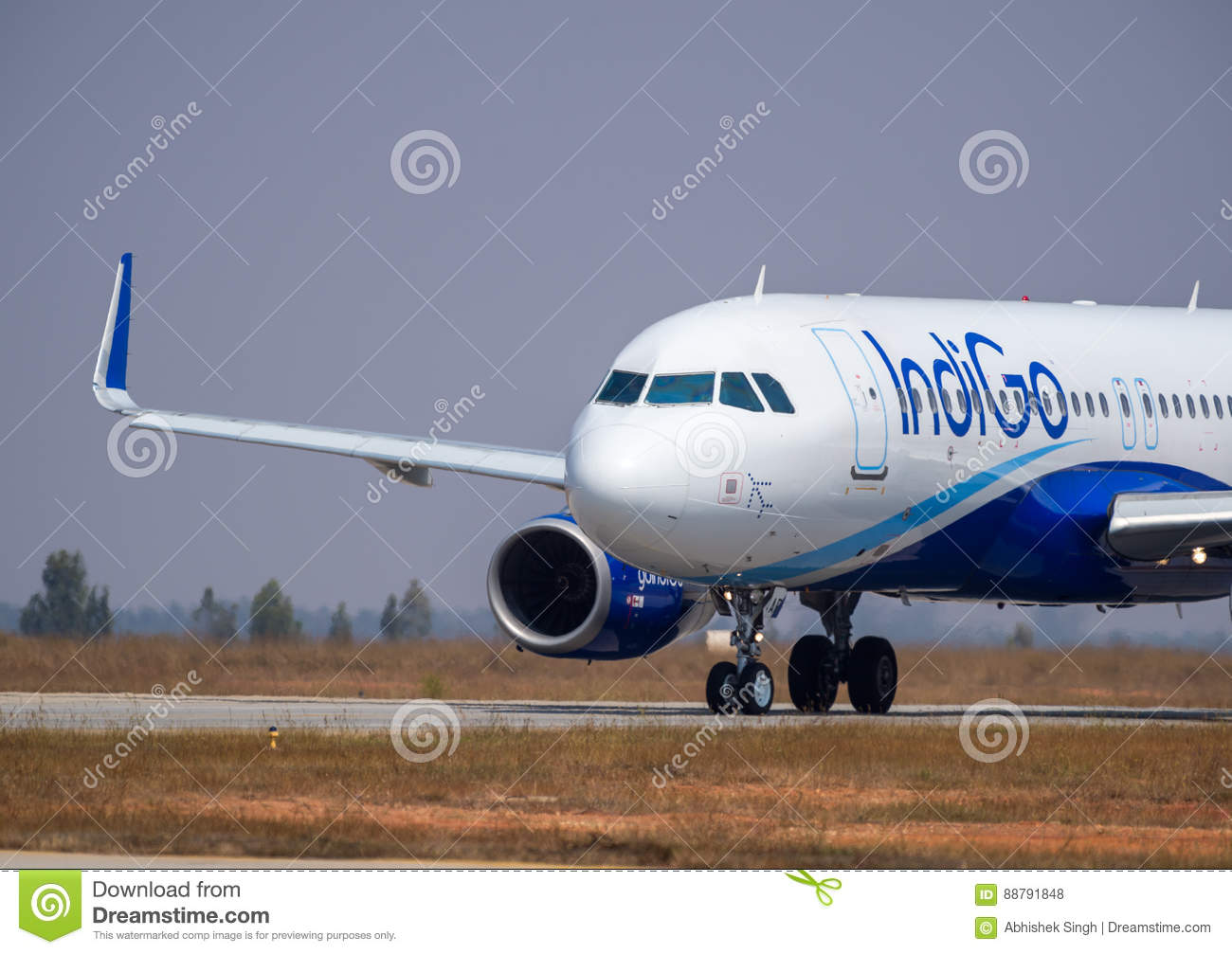 Download Indigo Airlines Airbus  Stock Image Editorial Stock Photo Image Of Ground