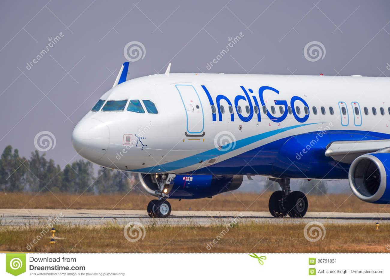 Download Indigo Airlines A Stock Image Editorial Photo Image Of Airplane Airportbangalore