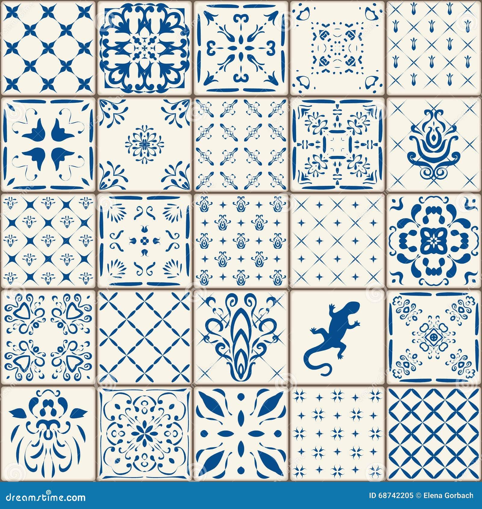 Indigo blau fliesen boden verzierungs sammlung herrliches for Tapete orientalisch blau