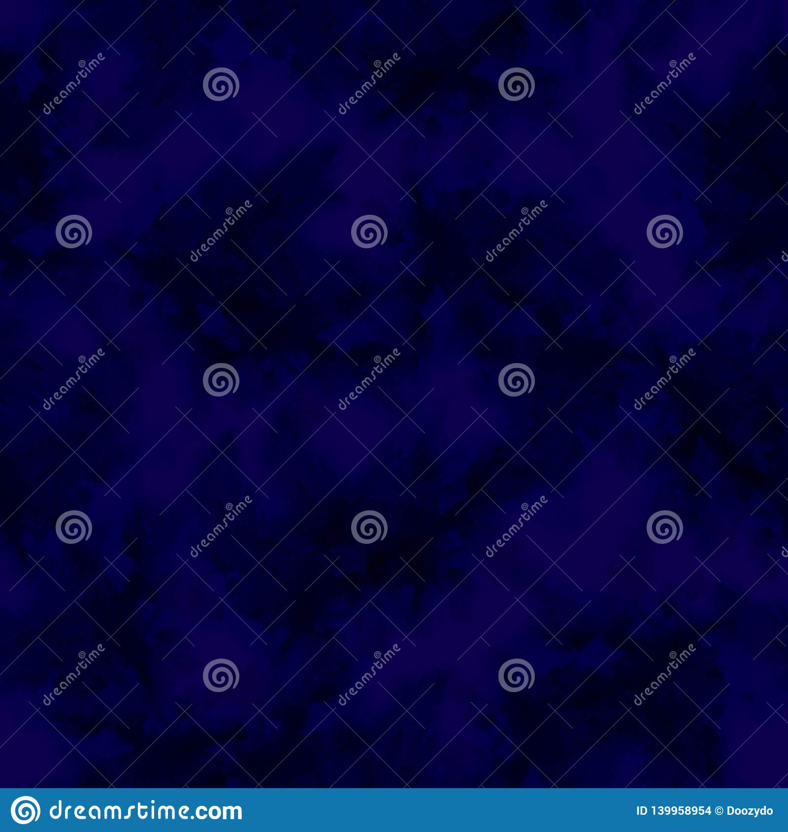 Indigo splashes pattern. Watercolor abstract seamless pattern. Background with scattered indigo splashes and stains. Hand painted