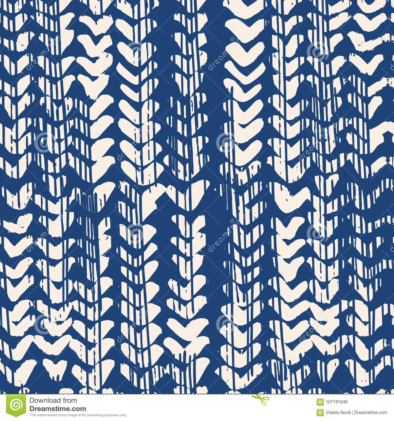464fd75d Indigo Vector Tie Dye Seamless Pattern. Stock Vector - Illustration ...