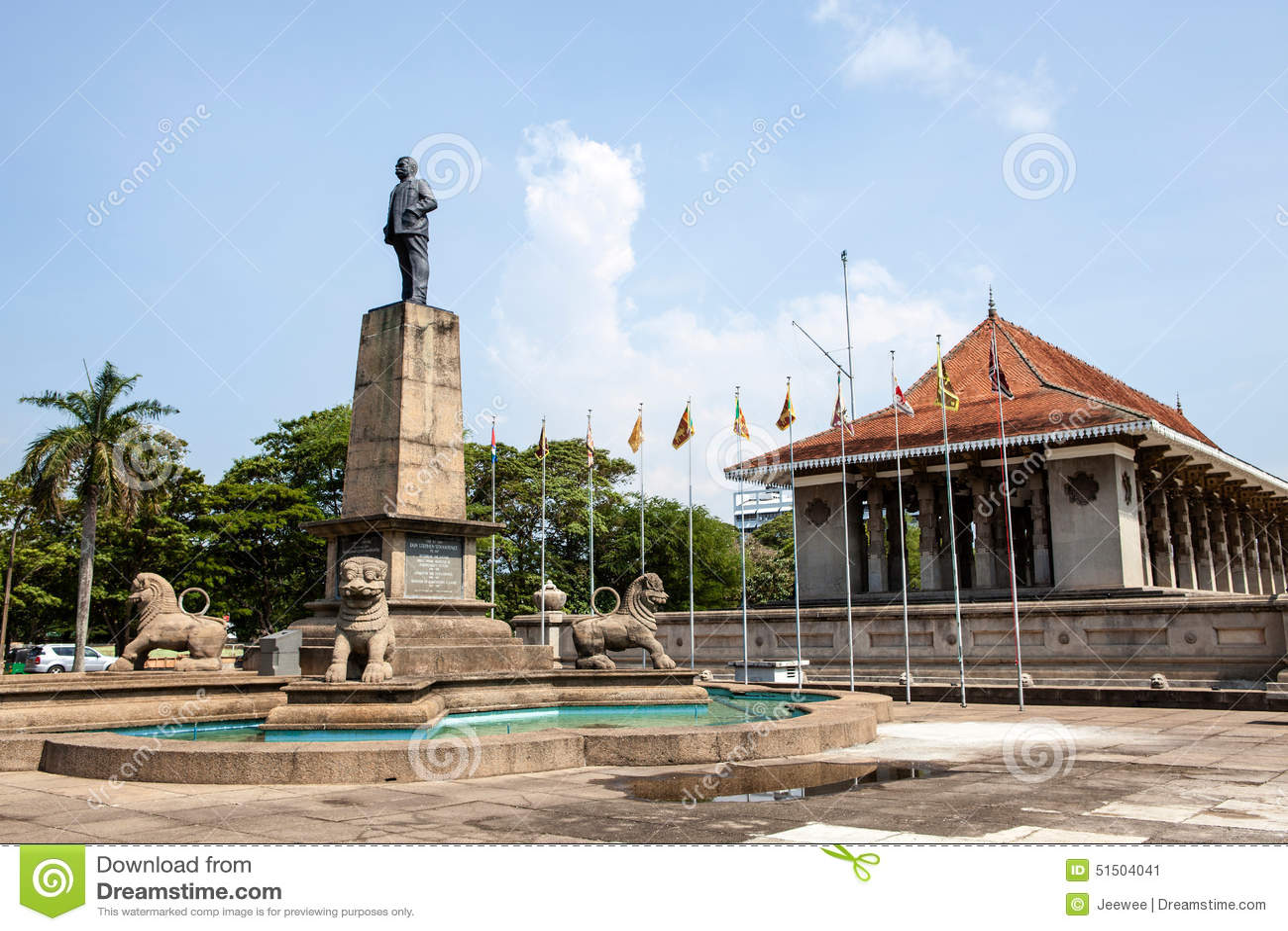 Indipendenza Memorial Hall a Colombo, capitale dello Sri Lanka