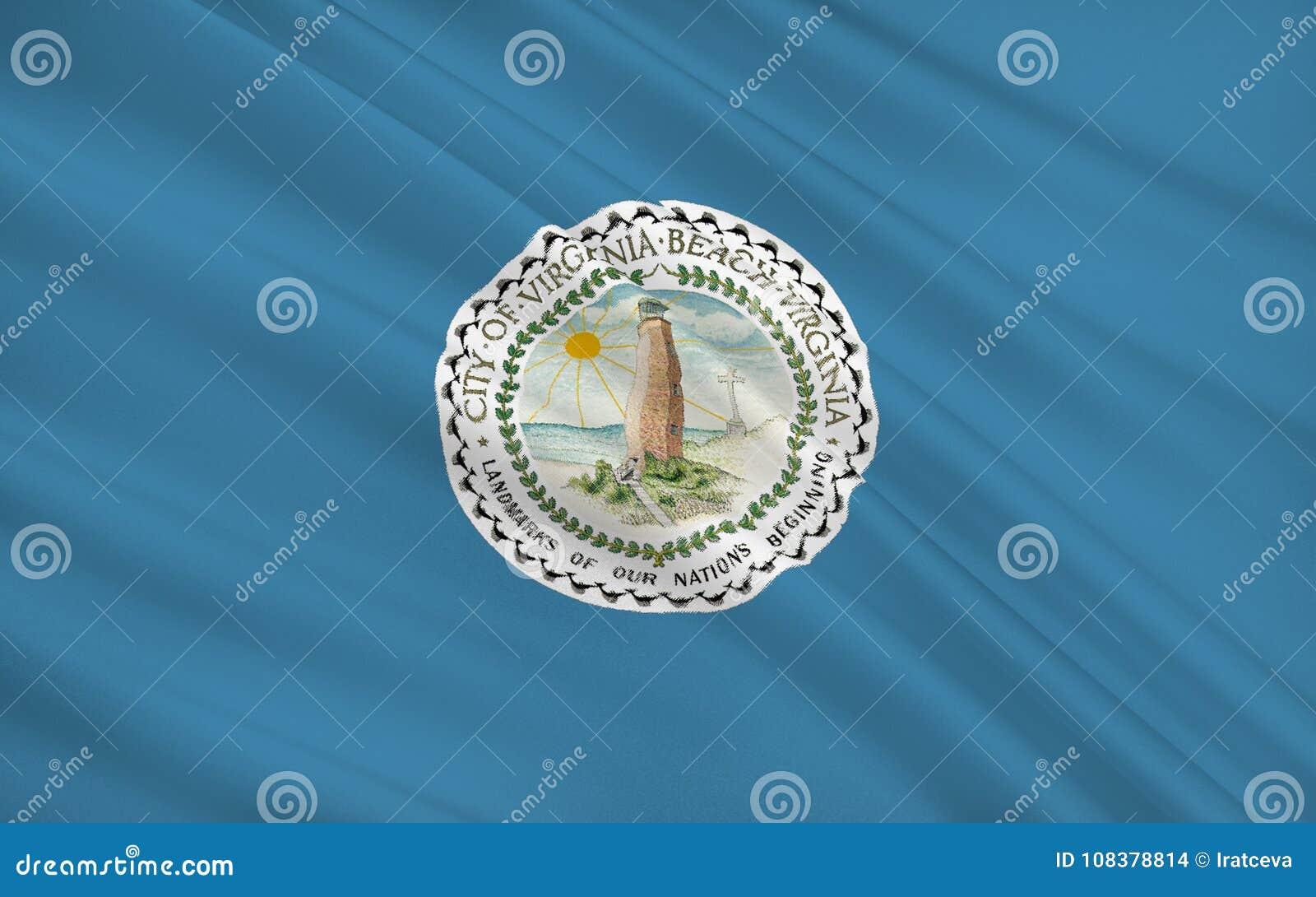 Indique la bandera de Virginia Beach - una ciudad en los Estados Unidos, lugares geométricos