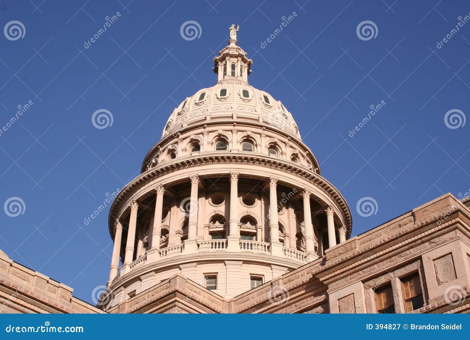Indiquez la construction de capitol à Austin du centre, le Texas