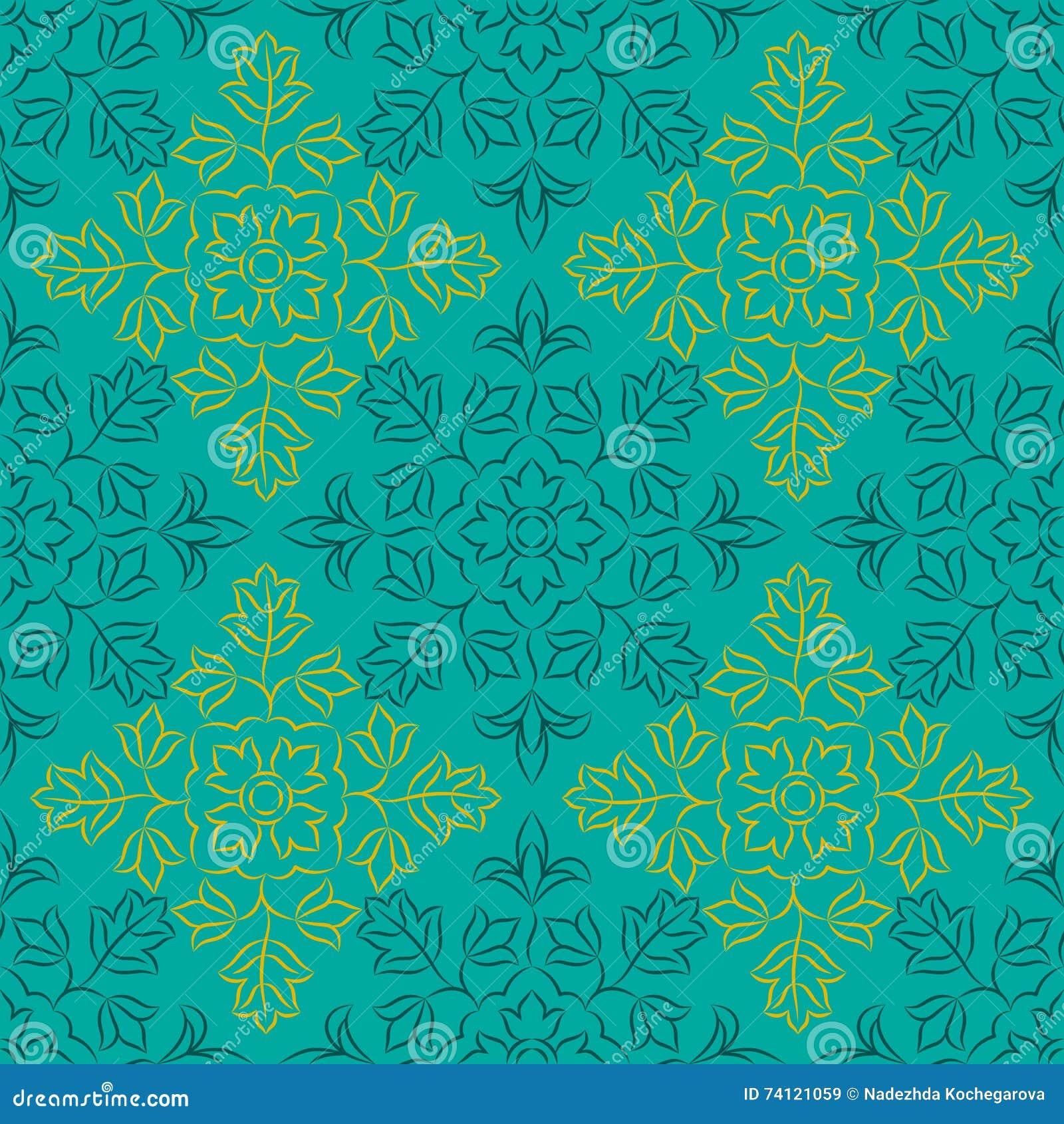 Indisch bloemenpatroon