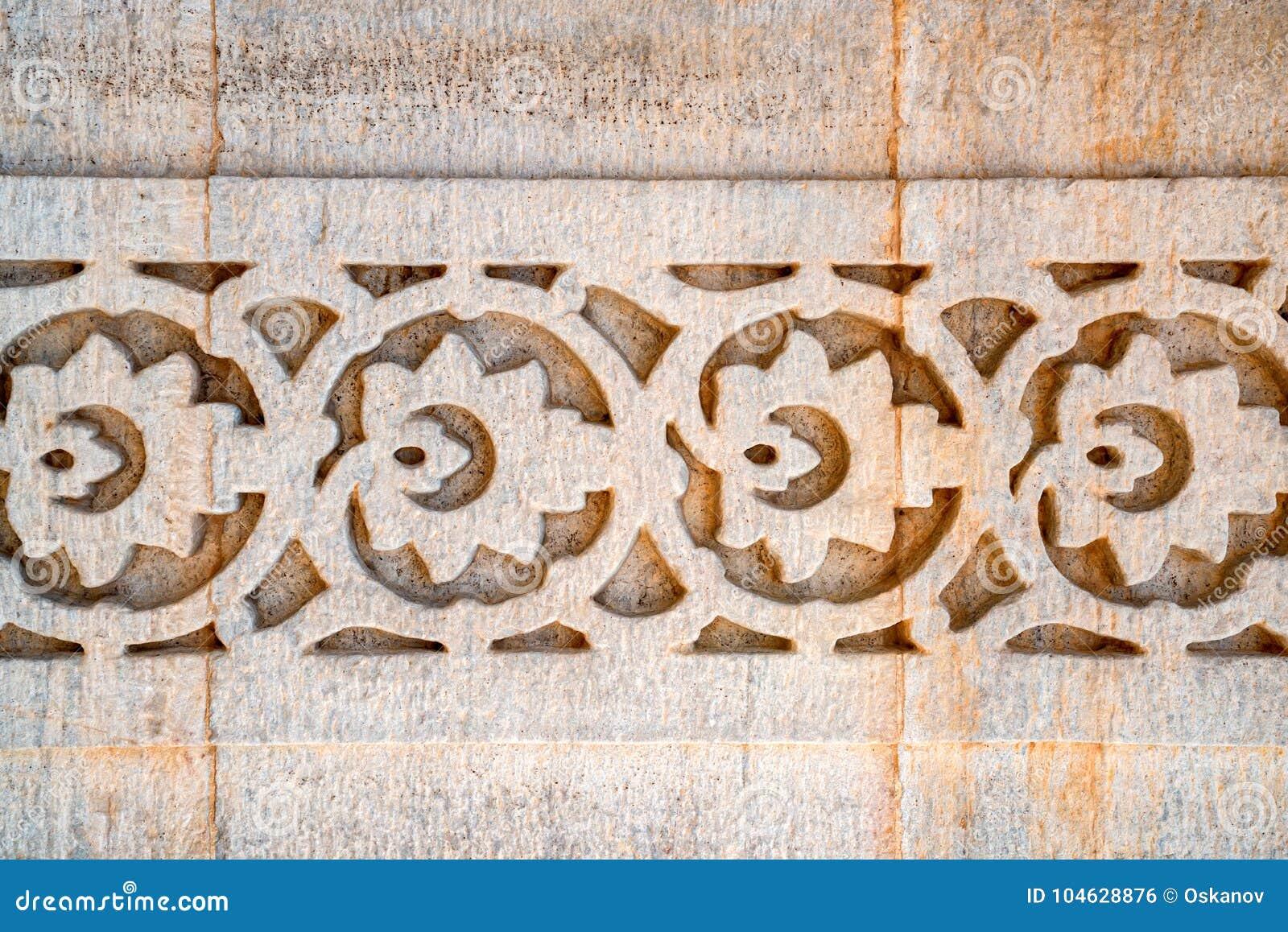 Download Indisch Die Muurpatroon In Steen Wordt Gesneden Stock Foto - Afbeelding bestaande uit arabisch, frame: 104628876