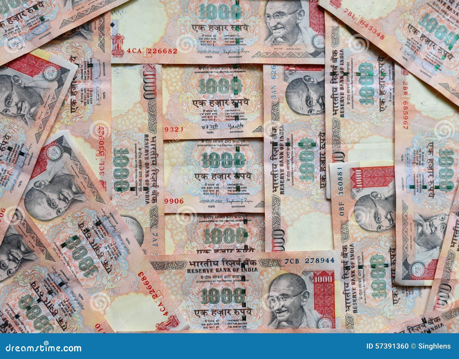 Indisch Geld of munt, 1000 Roepiesnota s, gehele achtergrond