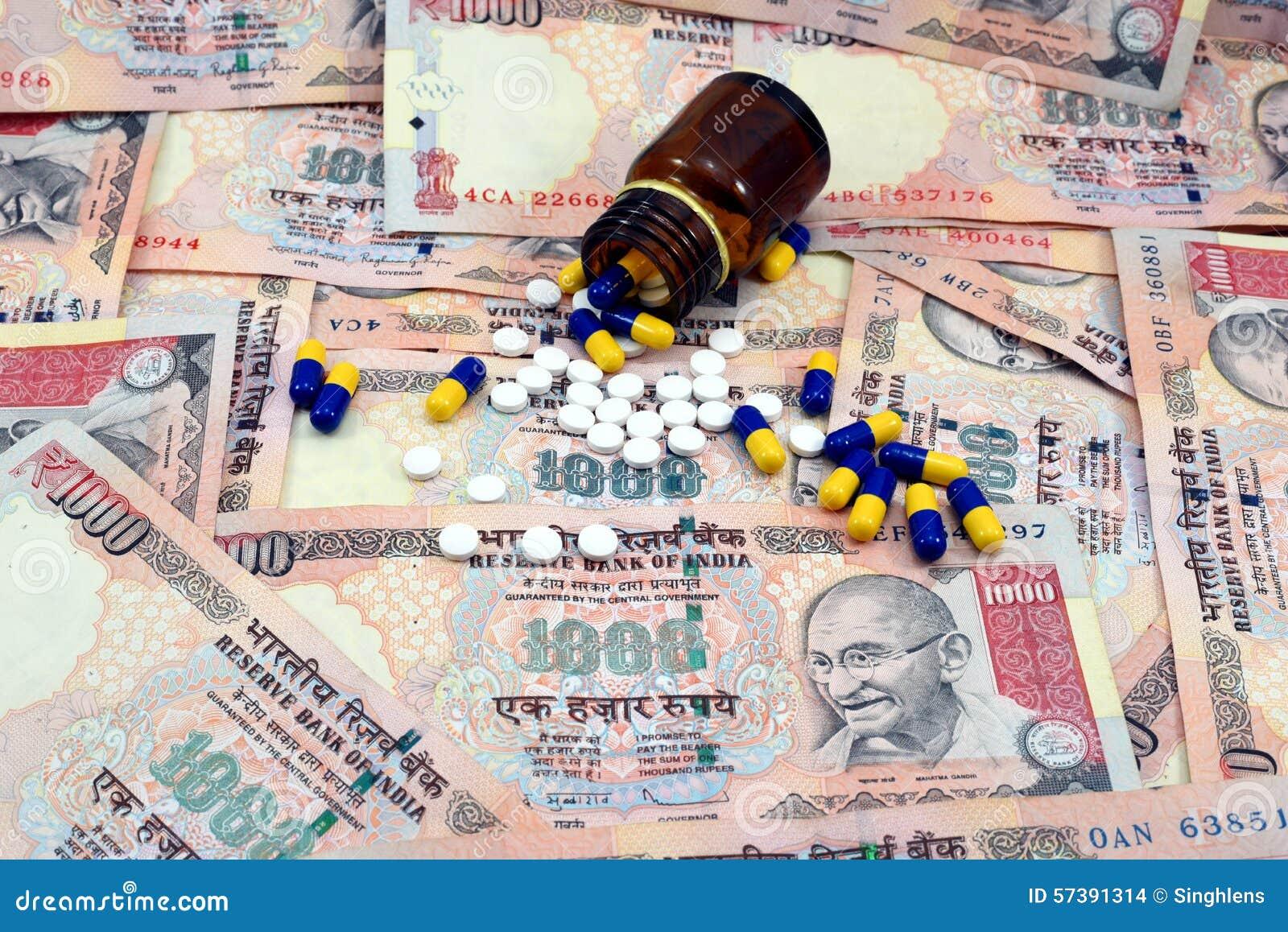 Indisch Geld, 1000 Roepiesnota s met geneesmiddelen