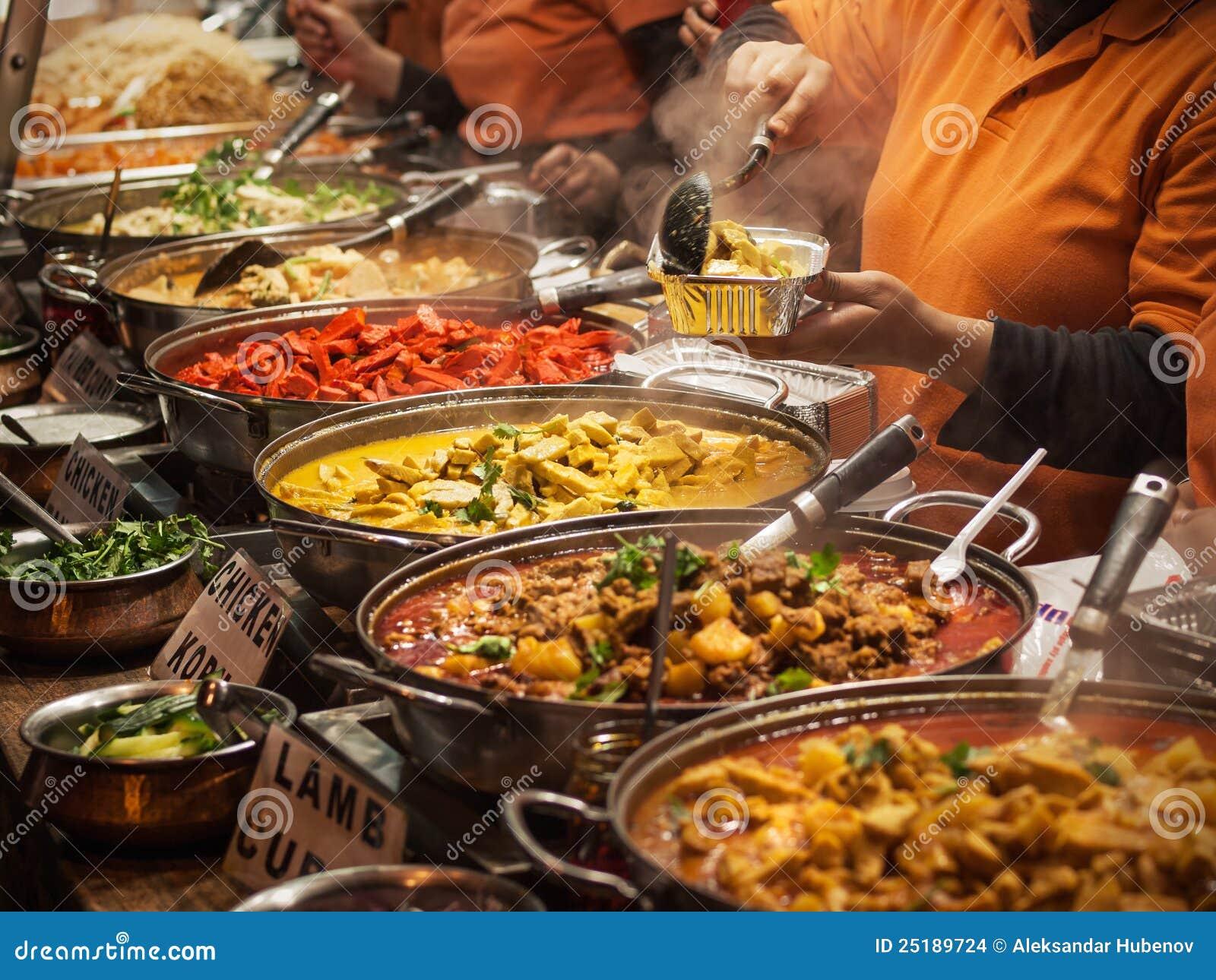 Indisch voedsel stock afbeeldingen afbeelding 25189724 for Sideboard indisch