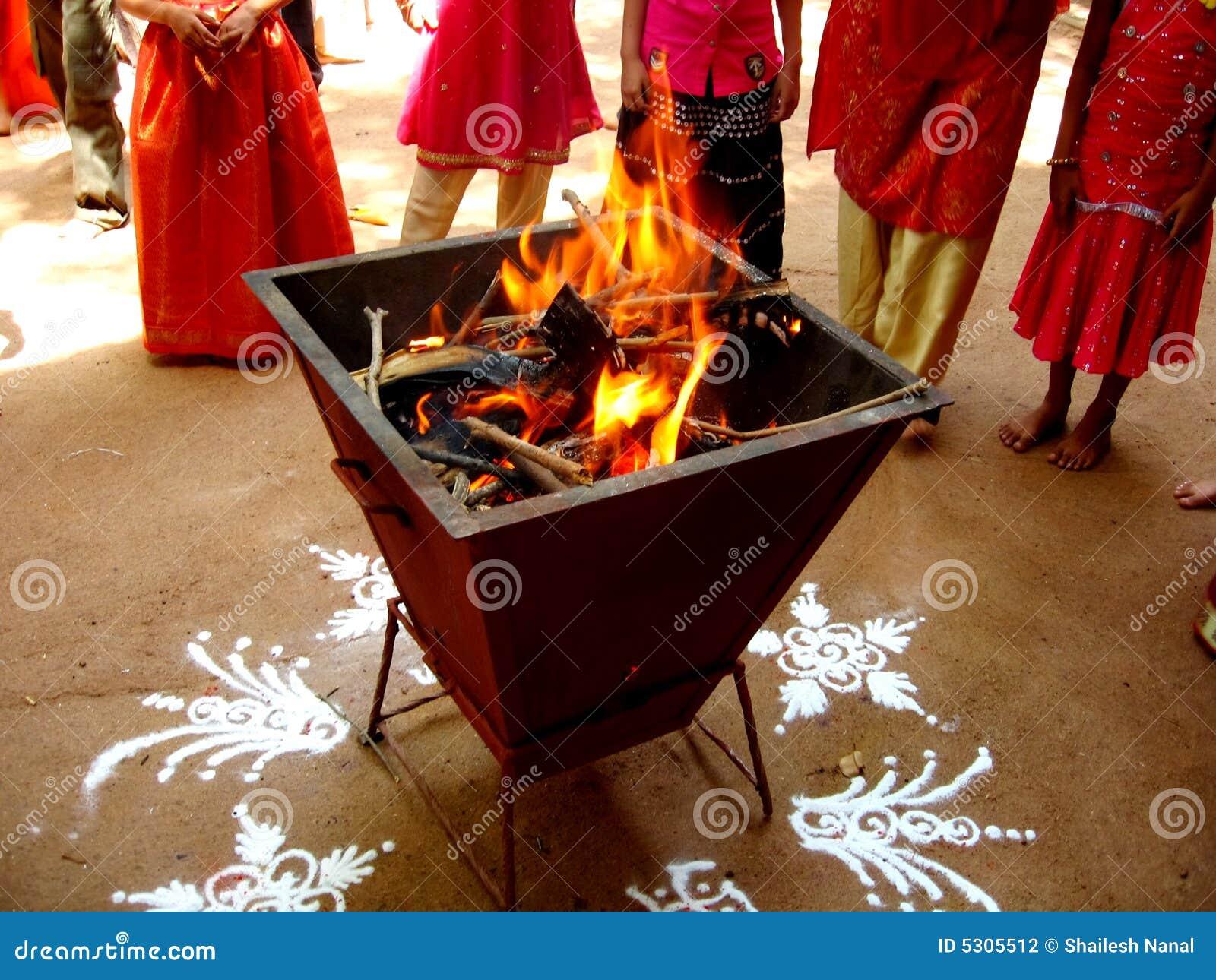 Indische Brand verering-Iii