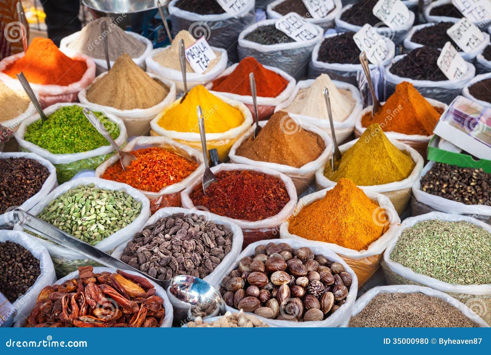 Indische Bunte Gewürze Stockfoto - Bild: 35000980