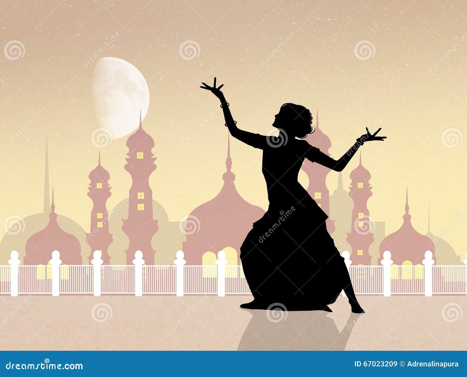 Indische dans bij de moskee