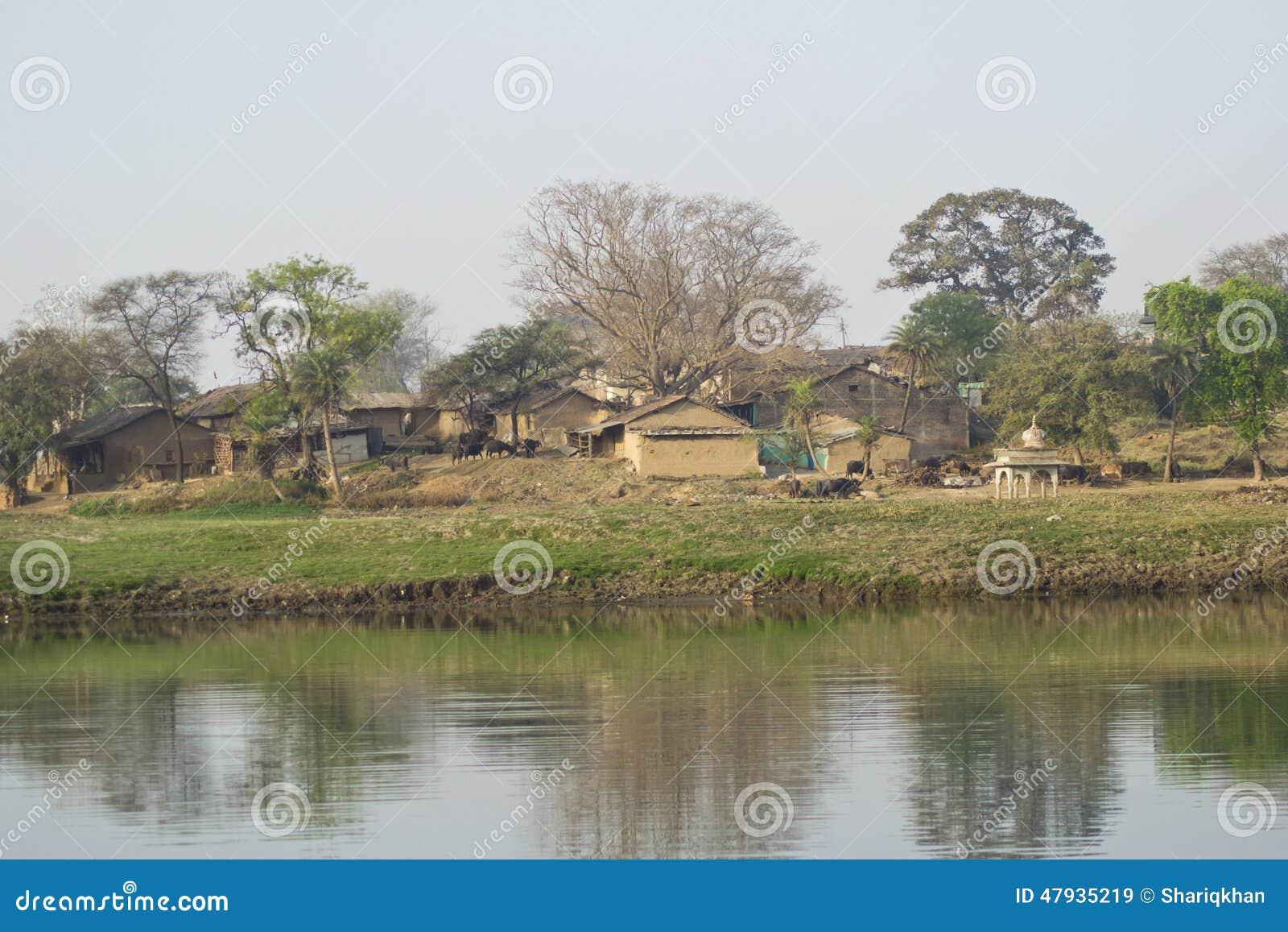 Indische Dorf-Landschaft