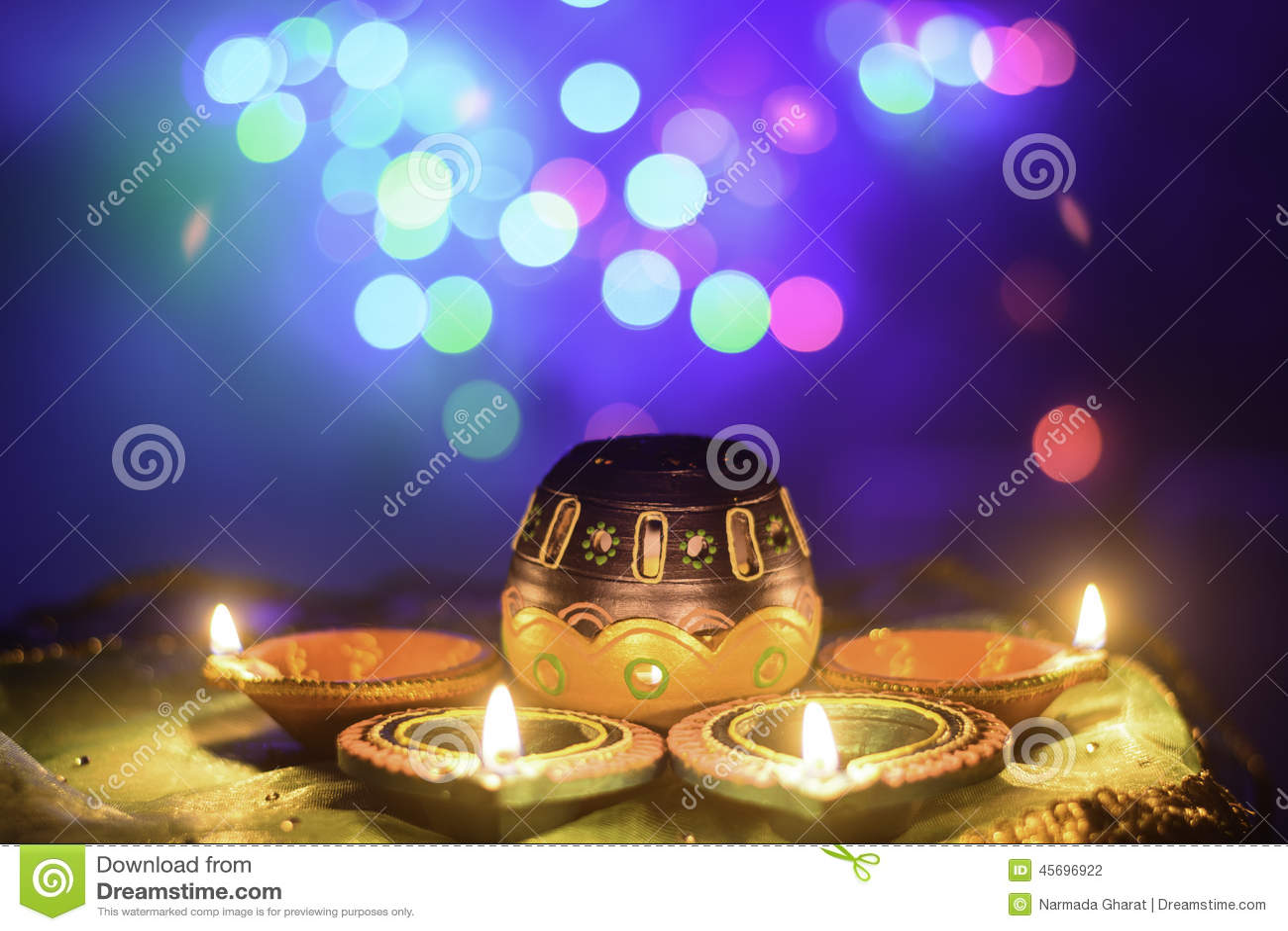 indische festival diwali l lampen dekoration stockfoto. Black Bedroom Furniture Sets. Home Design Ideas