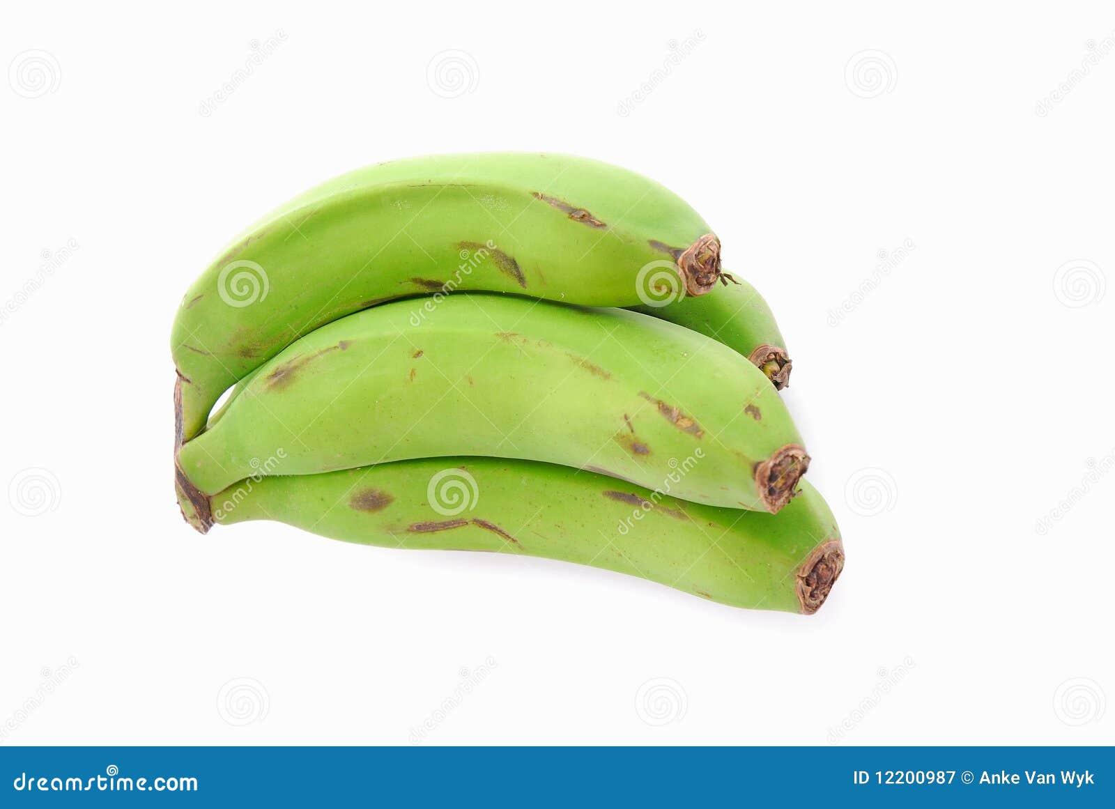 Indische grüne Bananen