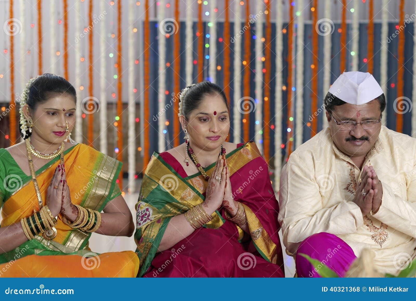 Indische hindische Hochzeitsrituale