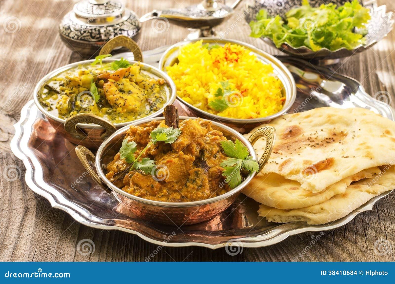 Indische Küche stockfoto. Bild von decorate, korma, flach - 38410684
