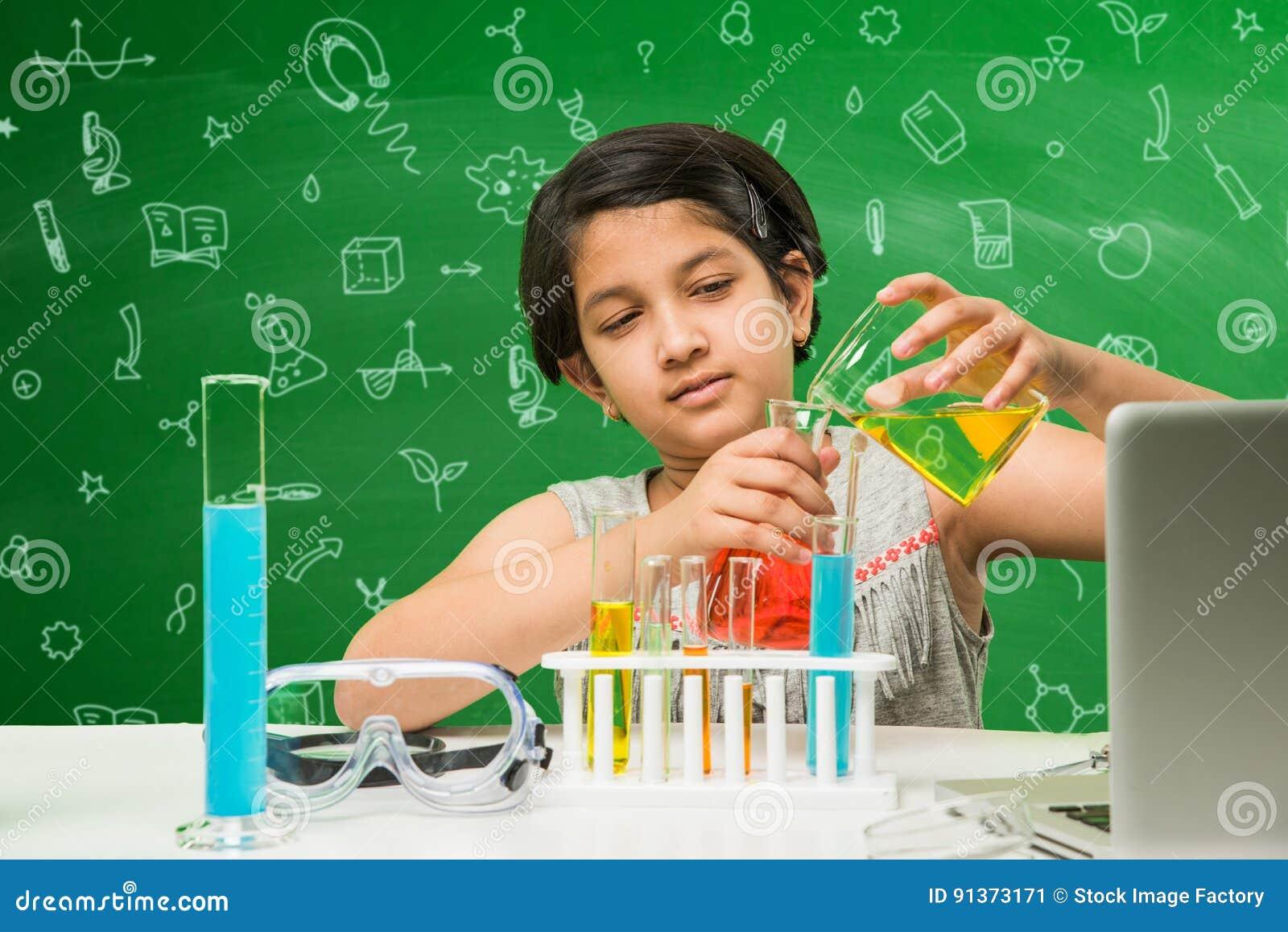 Indische kinder und wissenschaft stockbild bild von ausrüstung