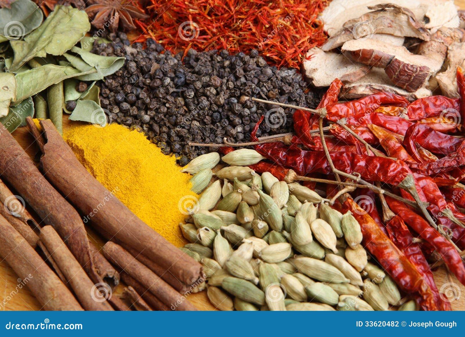 indische kochen gew rze und lebensmittelinhaltsstoffe stockfotografie bild 33620482. Black Bedroom Furniture Sets. Home Design Ideas