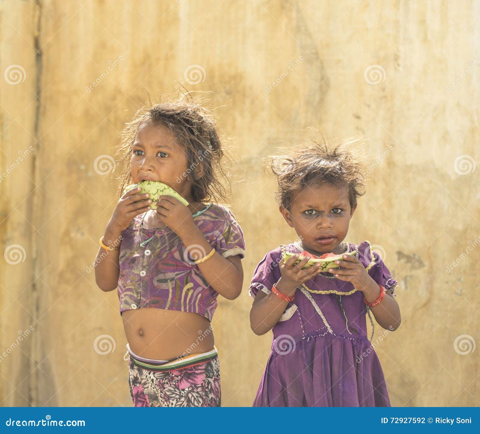Indische Landelijke Mensen In India Redactionele Fotografie