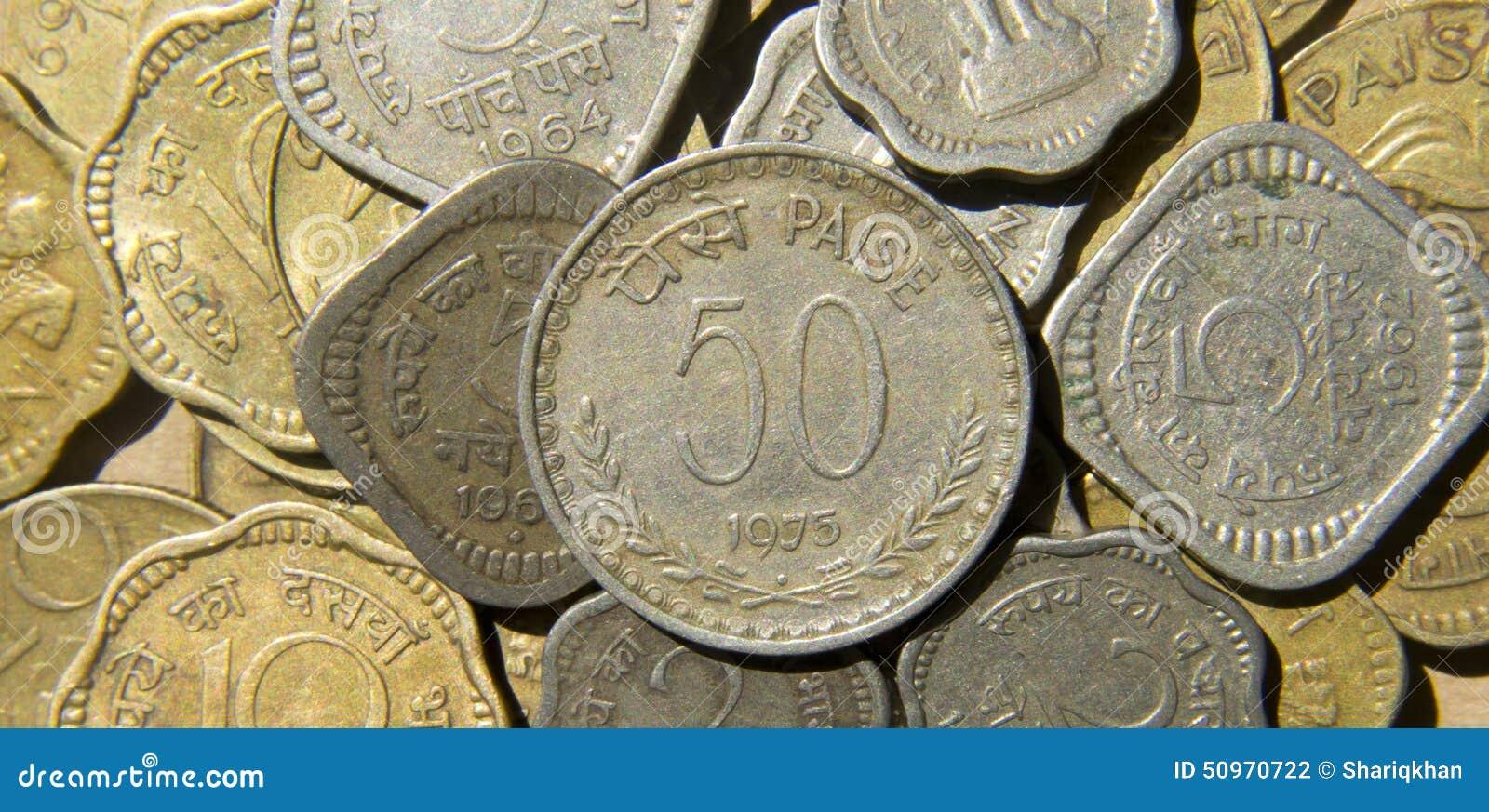 Indische Münzen Stockfoto Bild Von Finanzierung Fülle 50970722