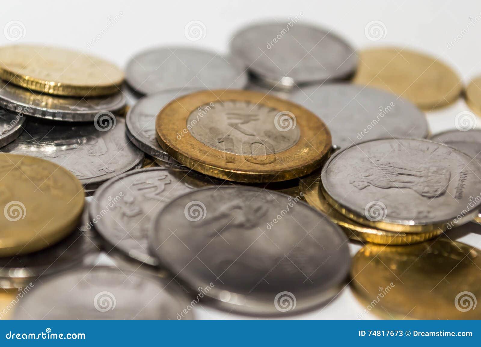 Indische Münzen Stockbild Bild Von Geld Münze Nahaufnahme 74817673