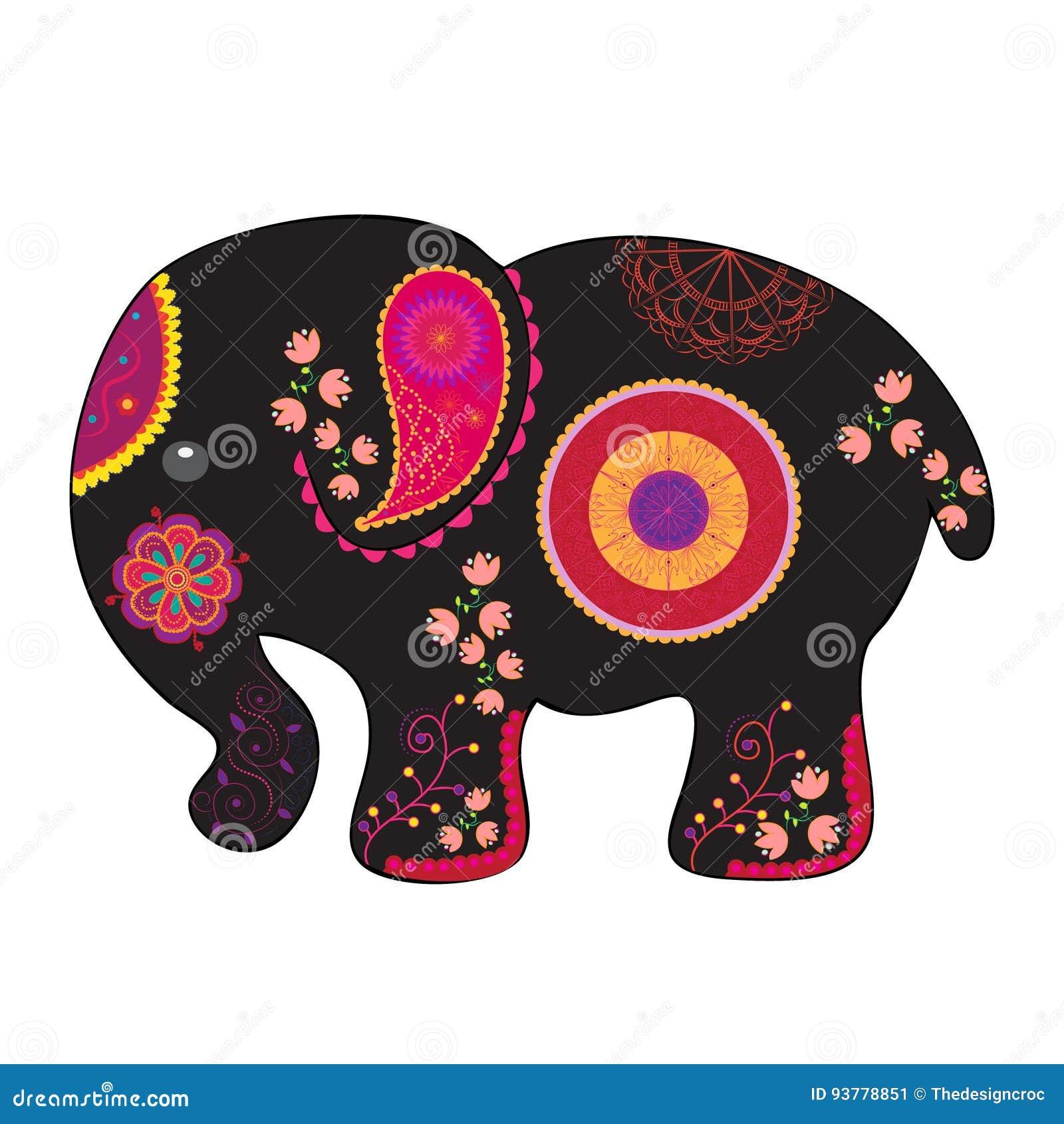 Indische olifants vectorillustratie