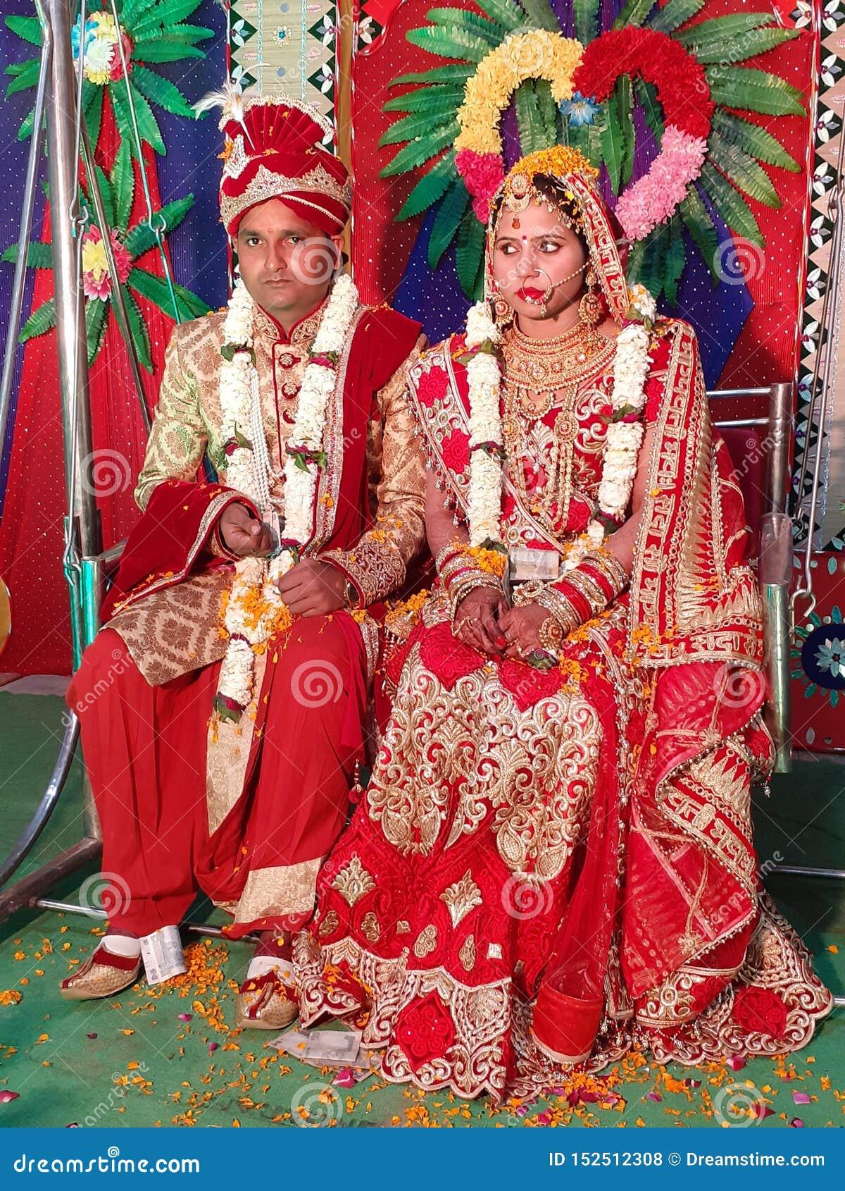 Indische traditionele huwelijksbeelden