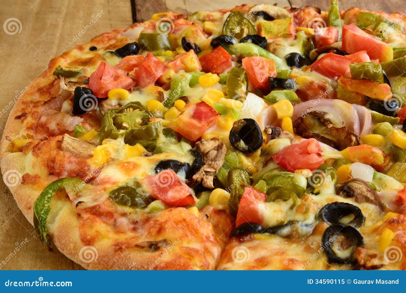 Indische Vegeterian-Pizza