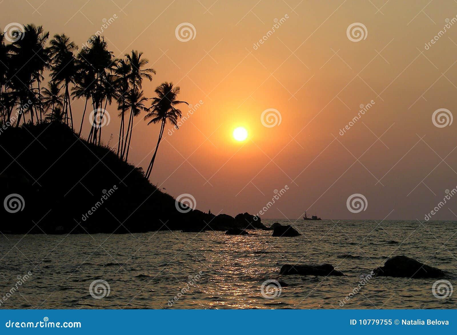 Indische zonsondergang