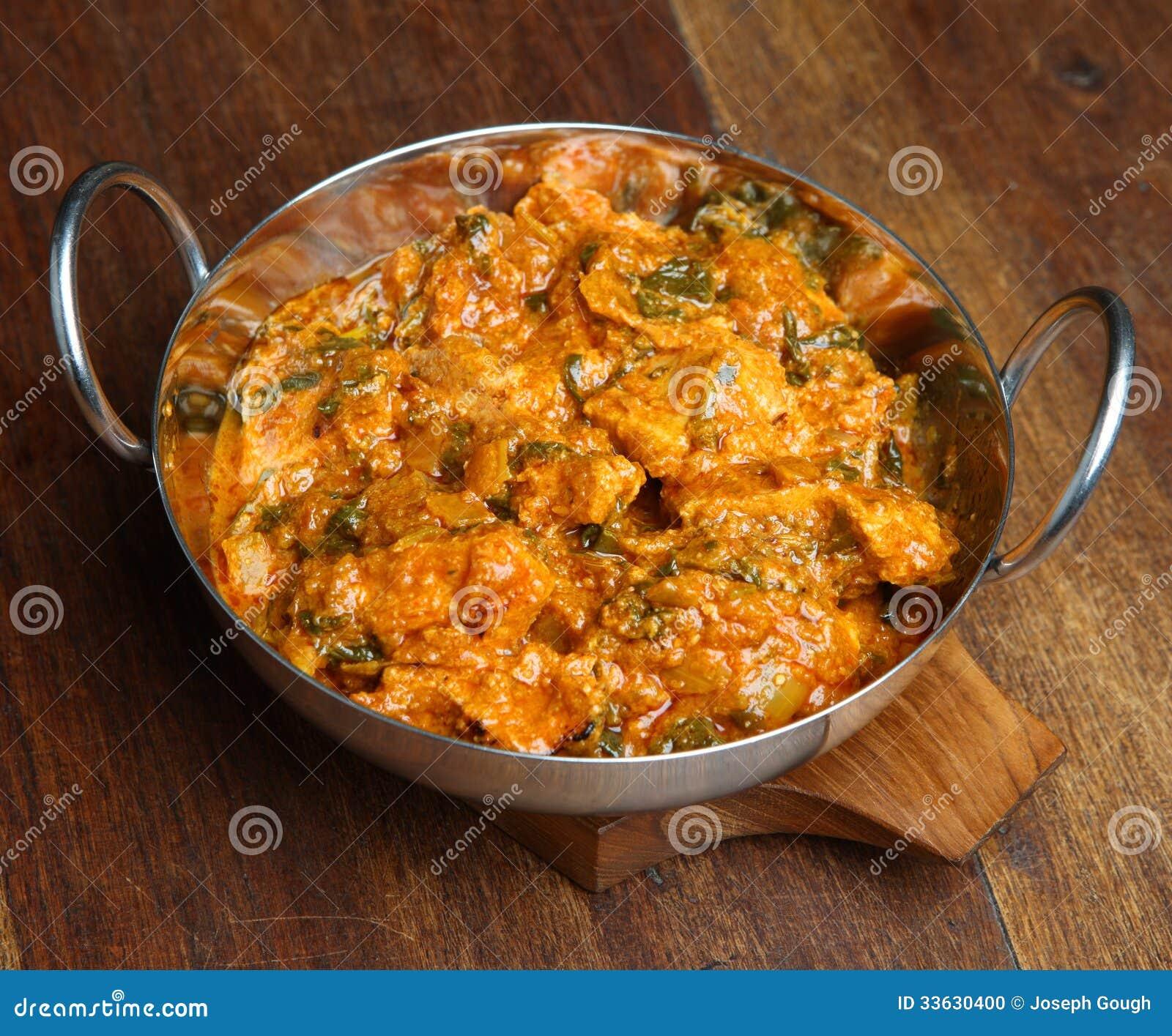 Indischer Curry Huhn Saag Massala Stockfoto Bild Von Indisch