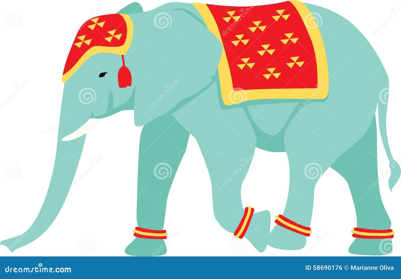 indischer elefant vektor abbildung illustration von