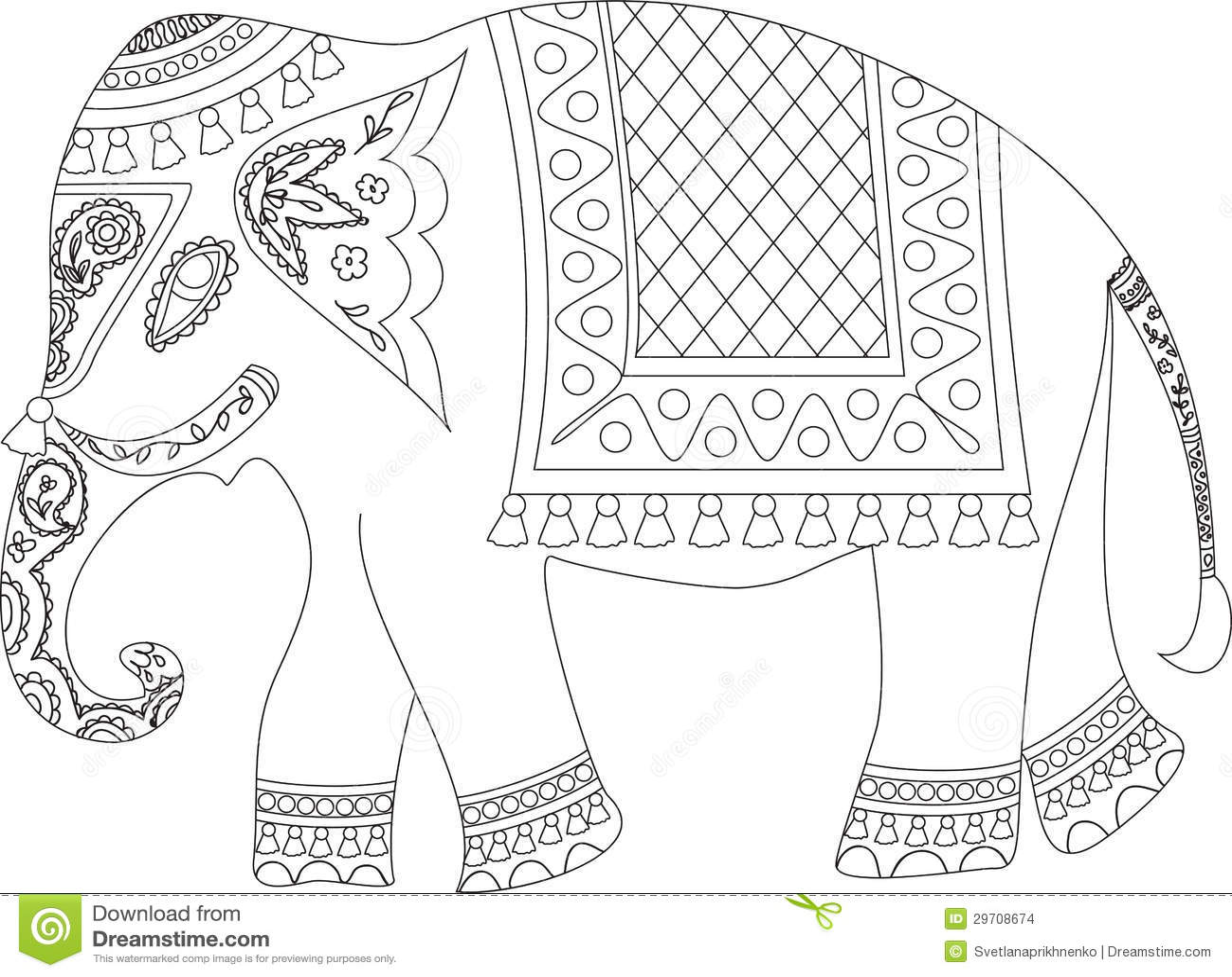 indischer elefant stock abbildung illustration von zirkus