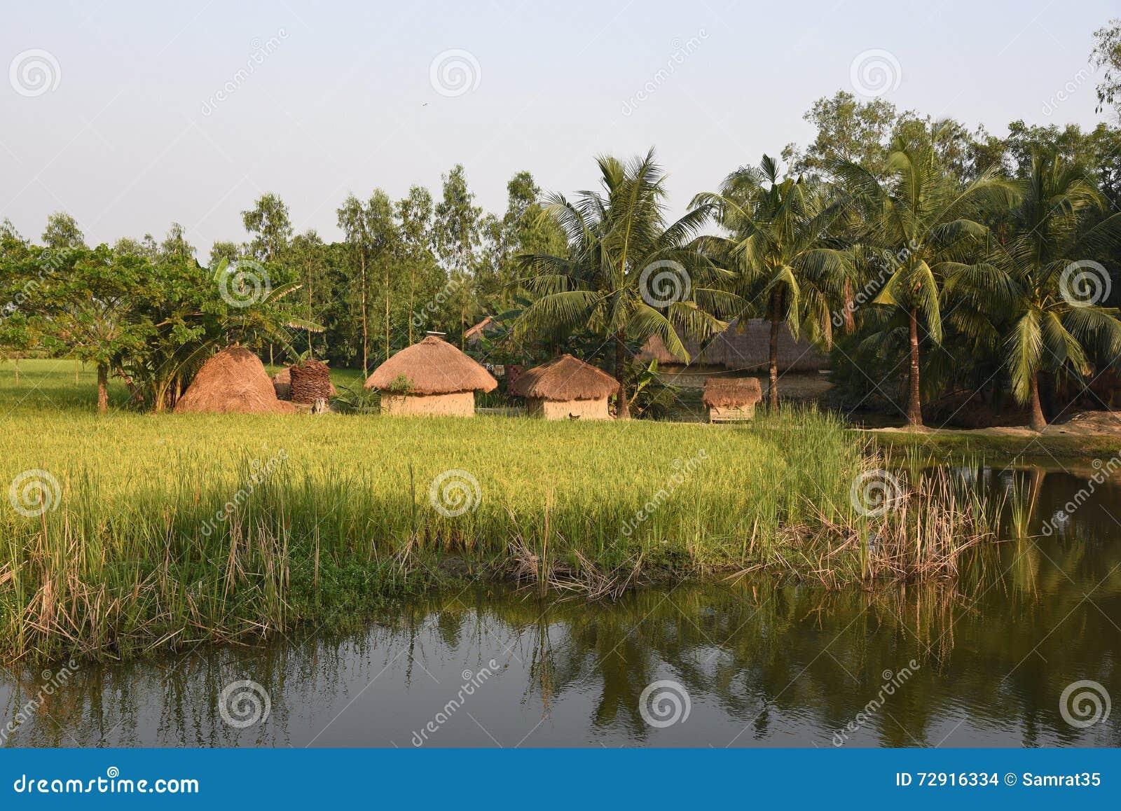 Indisches Dorf stockfoto. Bild von himmel, outdoor, farben - 72916334