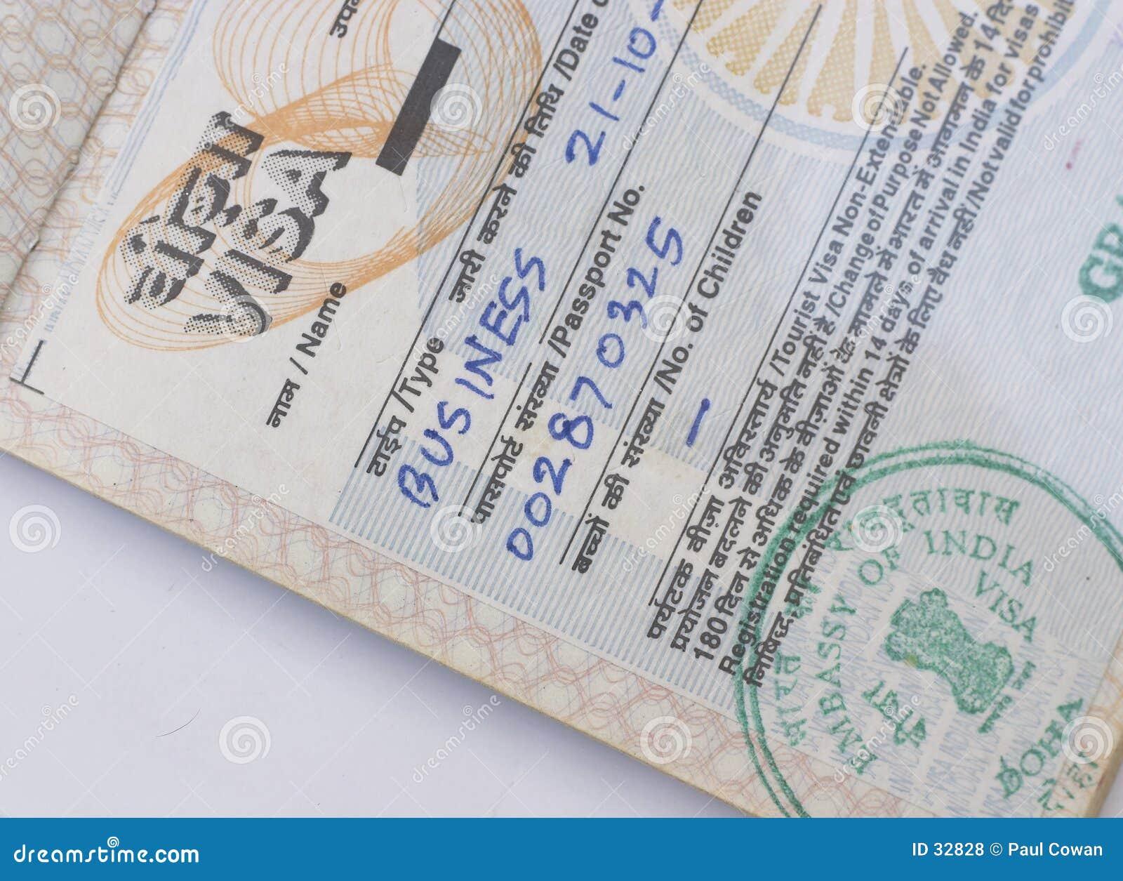 Indisches Geschäftsvisum