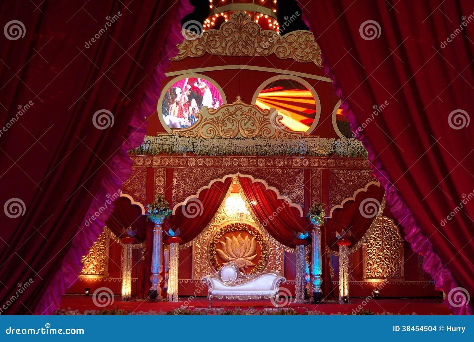 Indisches Hochzeitsstadium mandap
