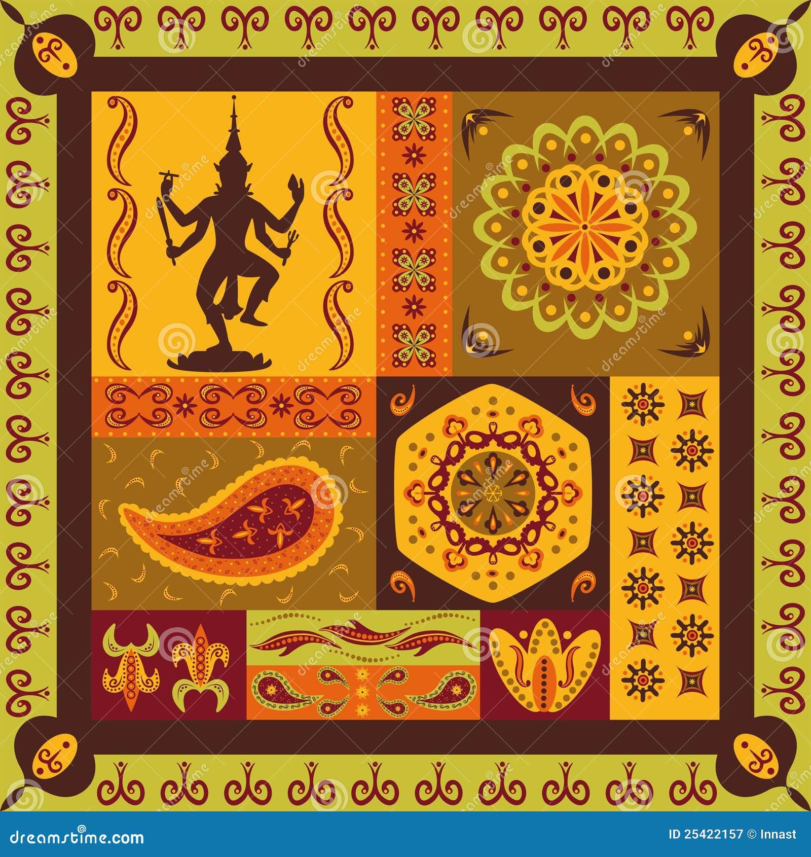 indisches muster lizenzfreie stockfotografie  bild 25422157