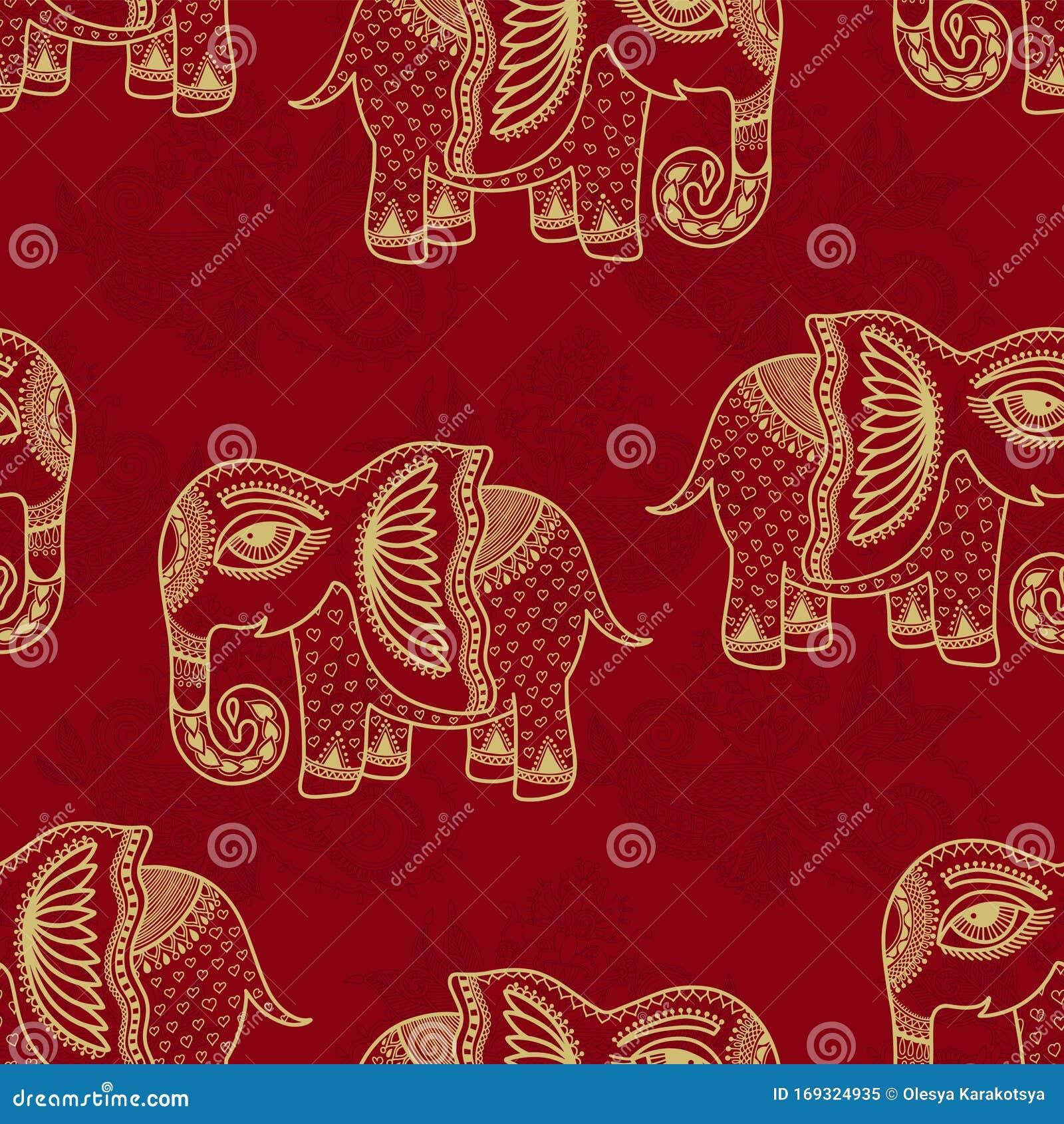 Indische Muster Elefant