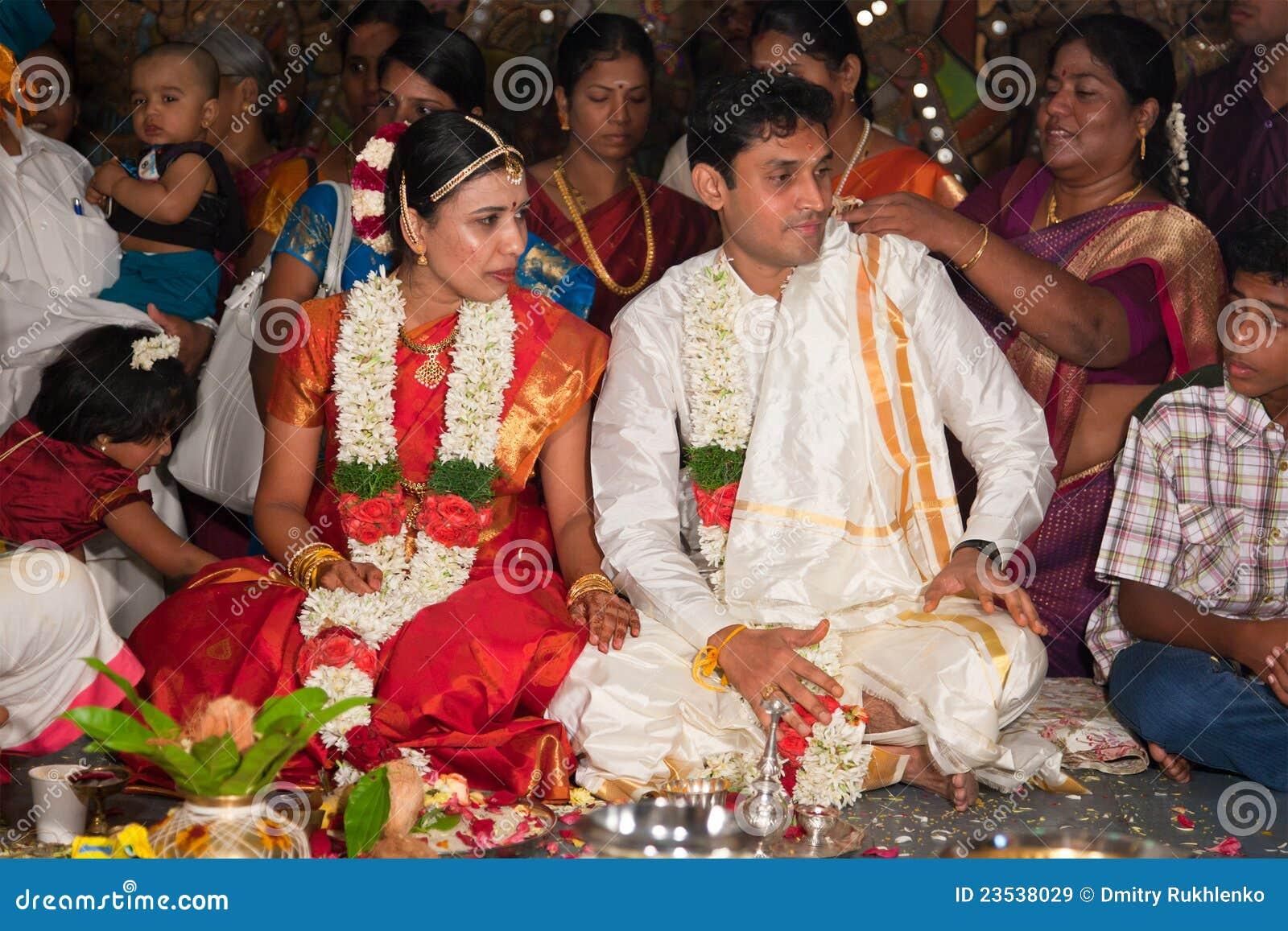 Indisches (Tamil) traditionelles Wedding Cerremony