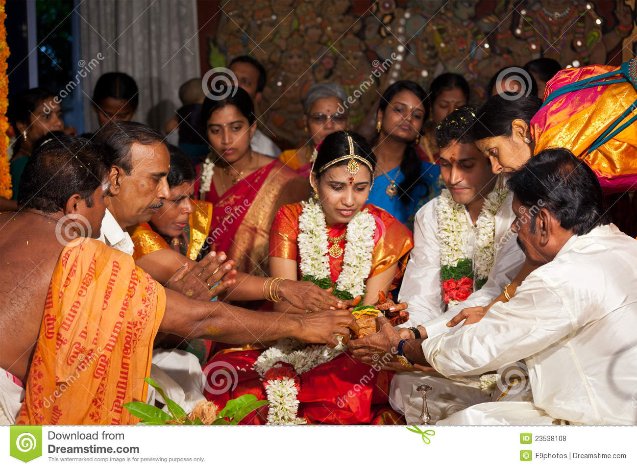 Indisches (Tamil) traditionelles Wedding Cerremony