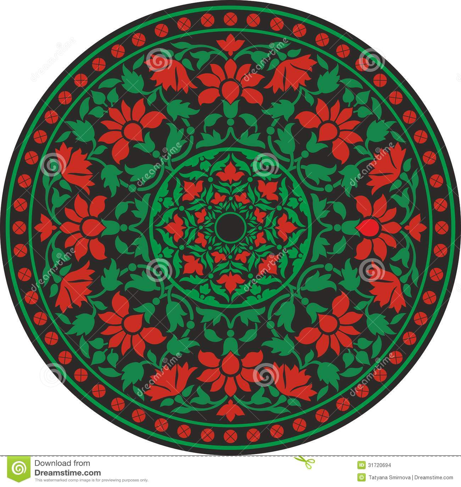 indisches traditionelles muster in der farbe  blühen sie