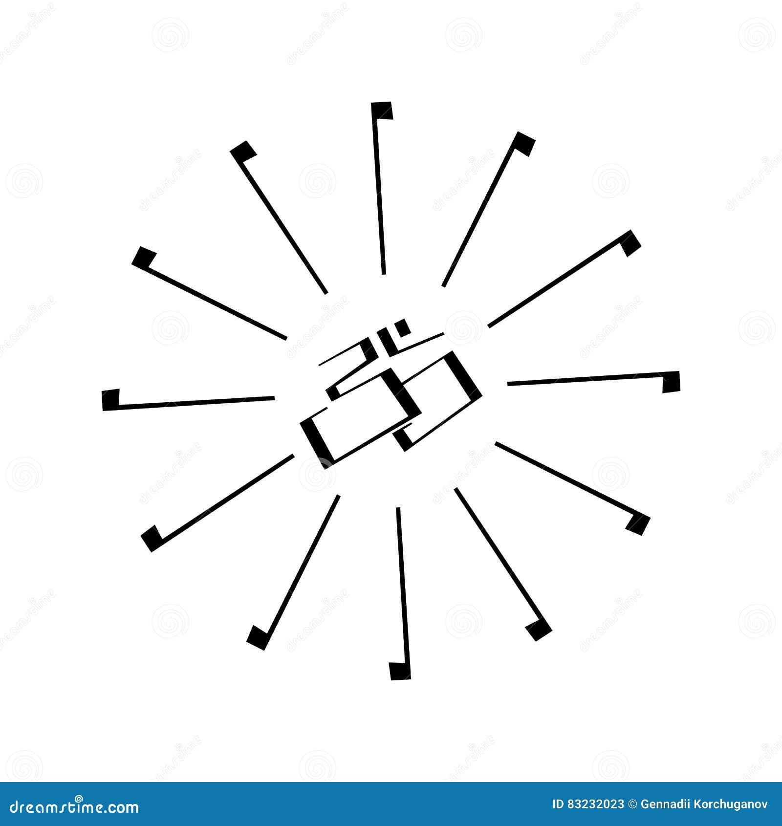 Indisches Zeichen Und Symbol Om Vektor Abbildung Illustration Von