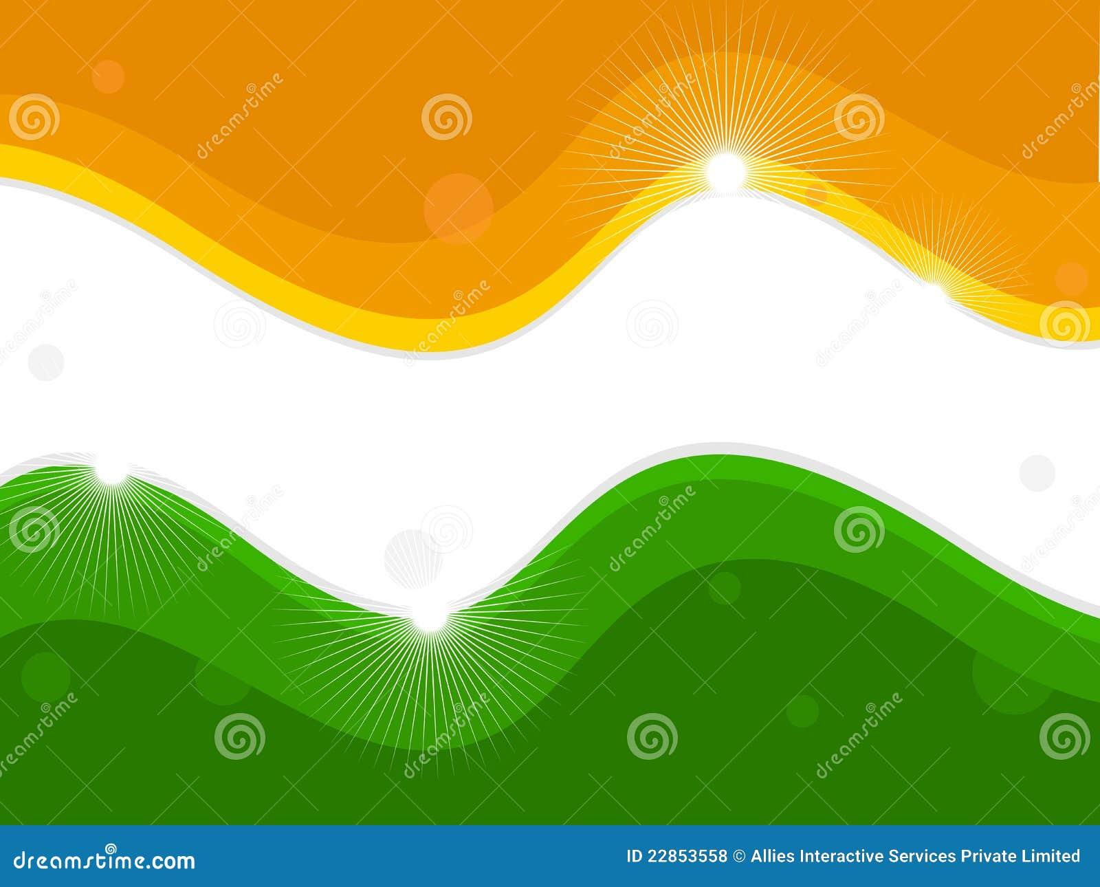 Indisk national för flagga