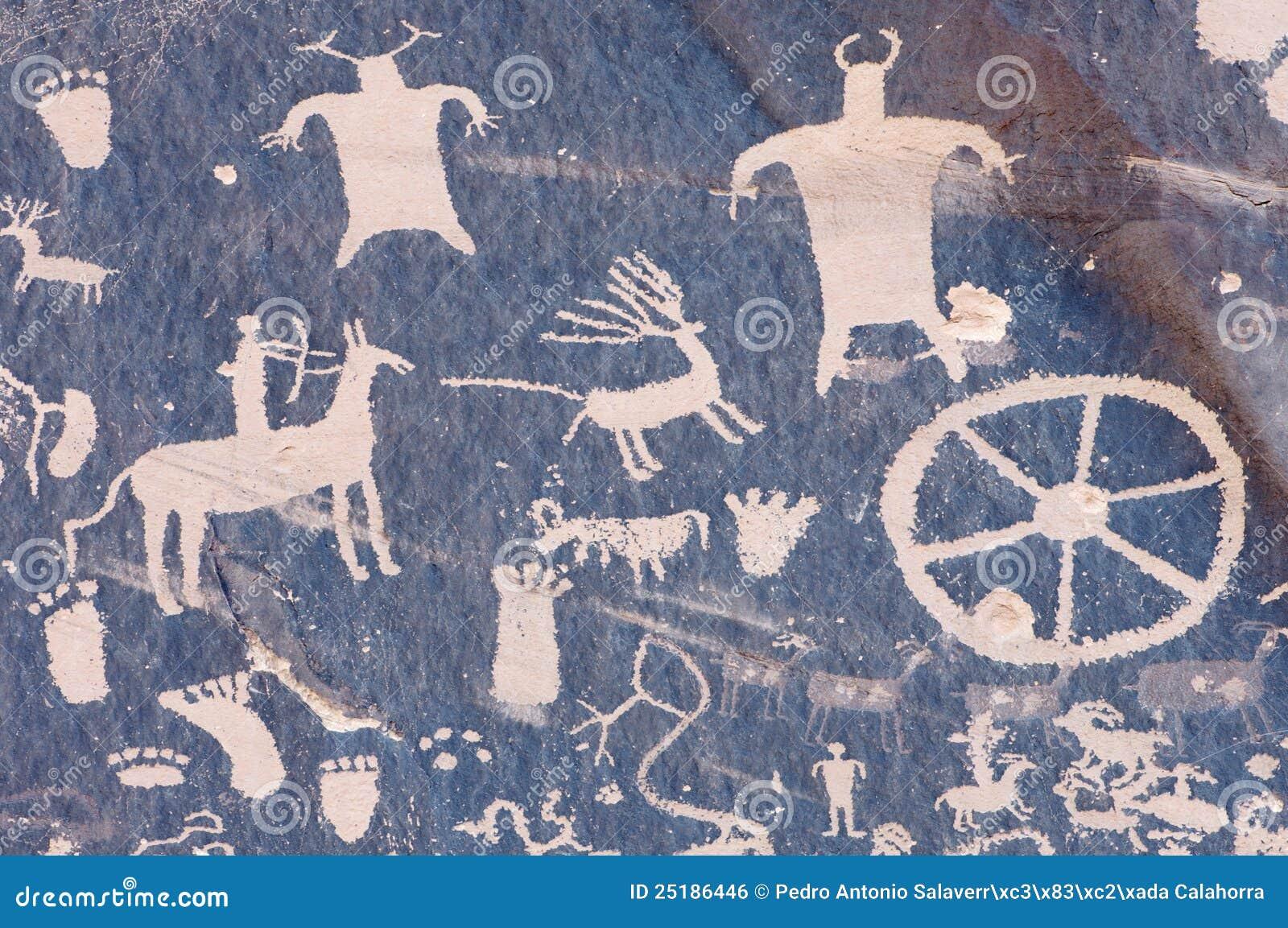 Indisk petroglyph