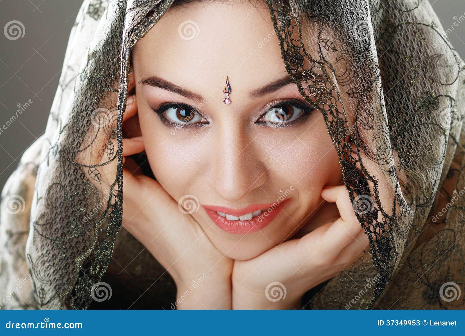 Indisk skönhetframsida